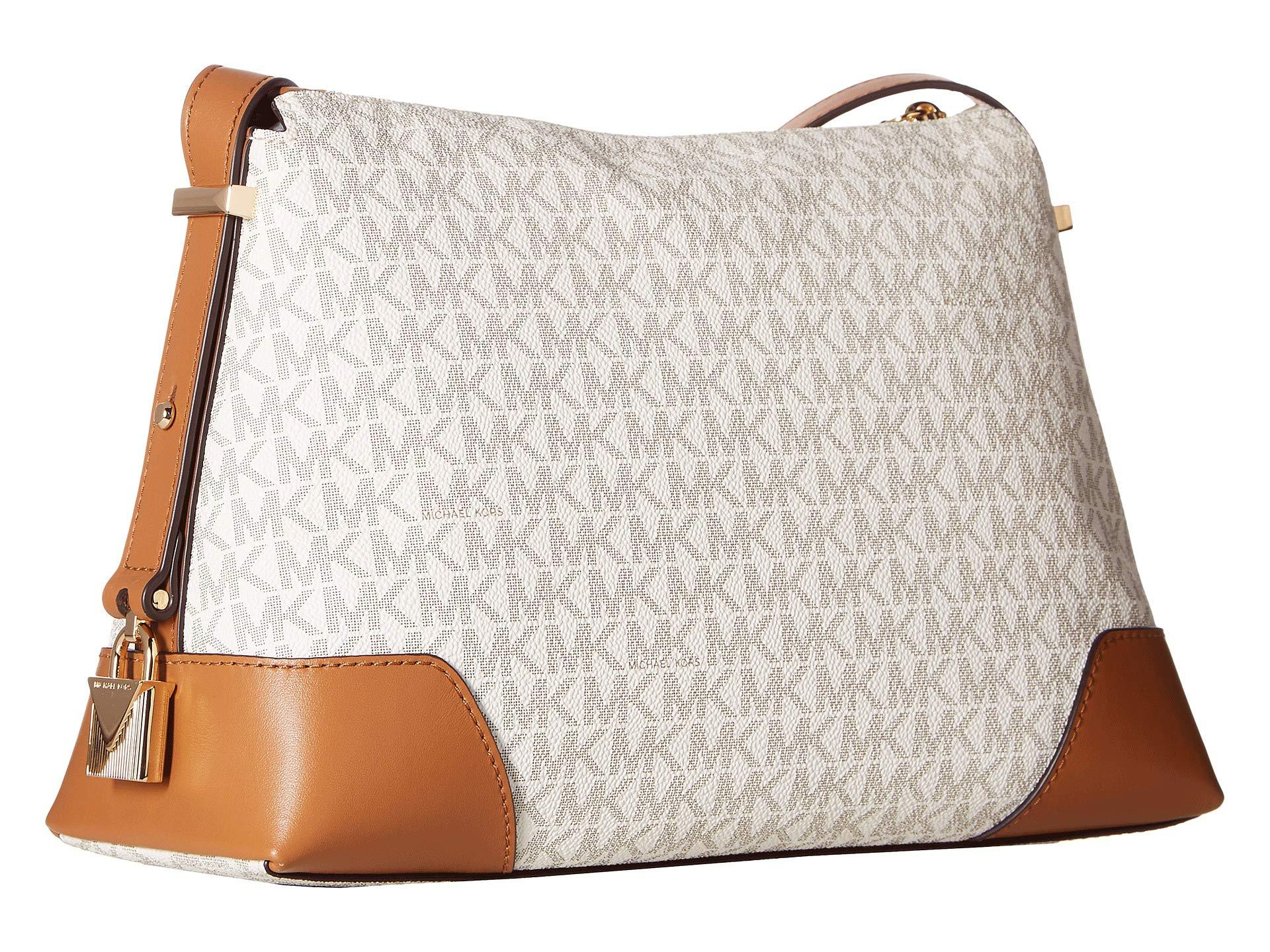 34db321396b564 MICHAEL Michael Kors - Multicolor Crosby Medium Messenger (vanilla/acorn)  Cross Body Handbags. View fullscreen