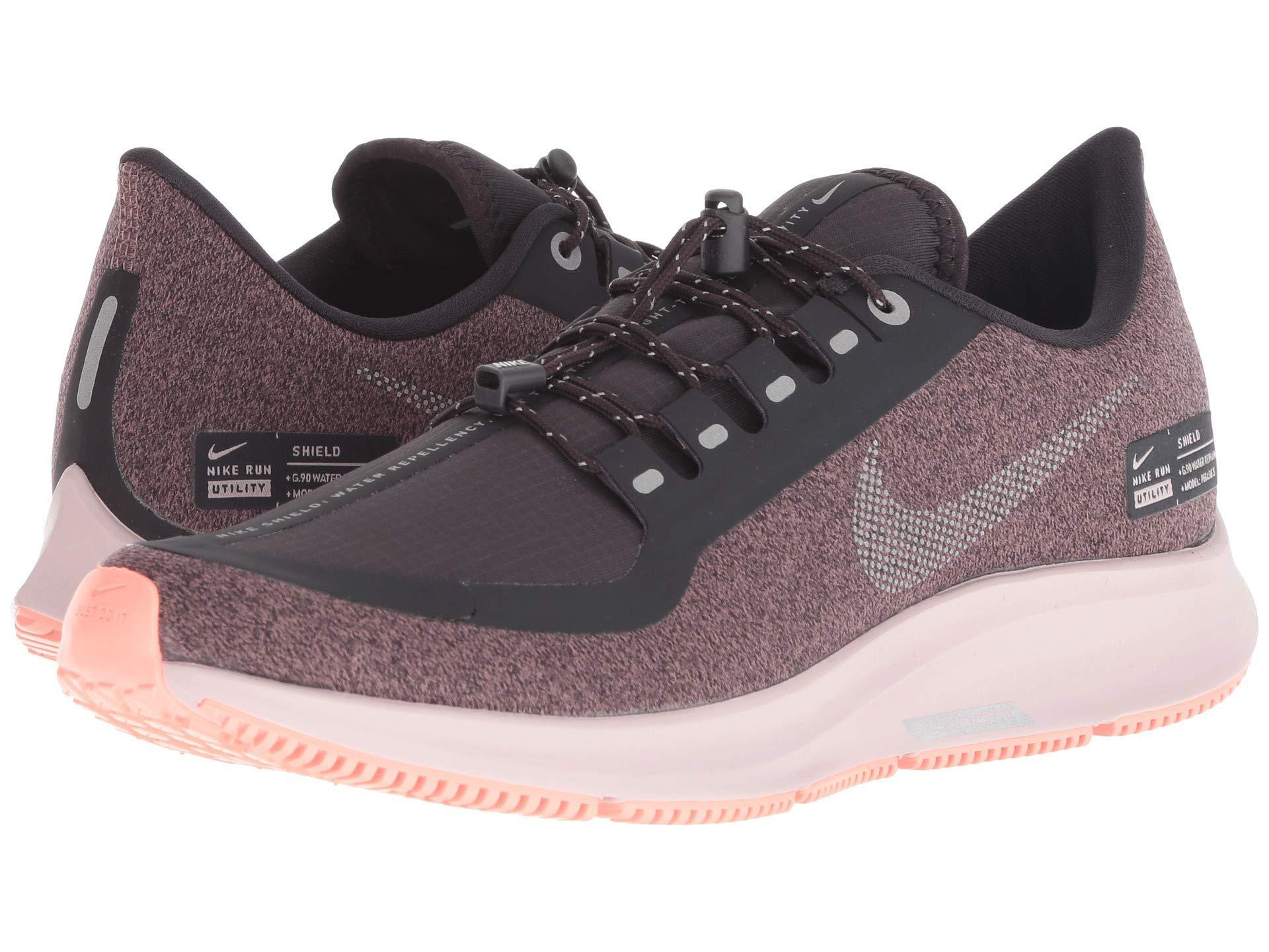 89787bd38447 Nike. Air Zoom Pegasus 35 Shield (black anthracite anthracite dark Grey) Women s  Running Shoes