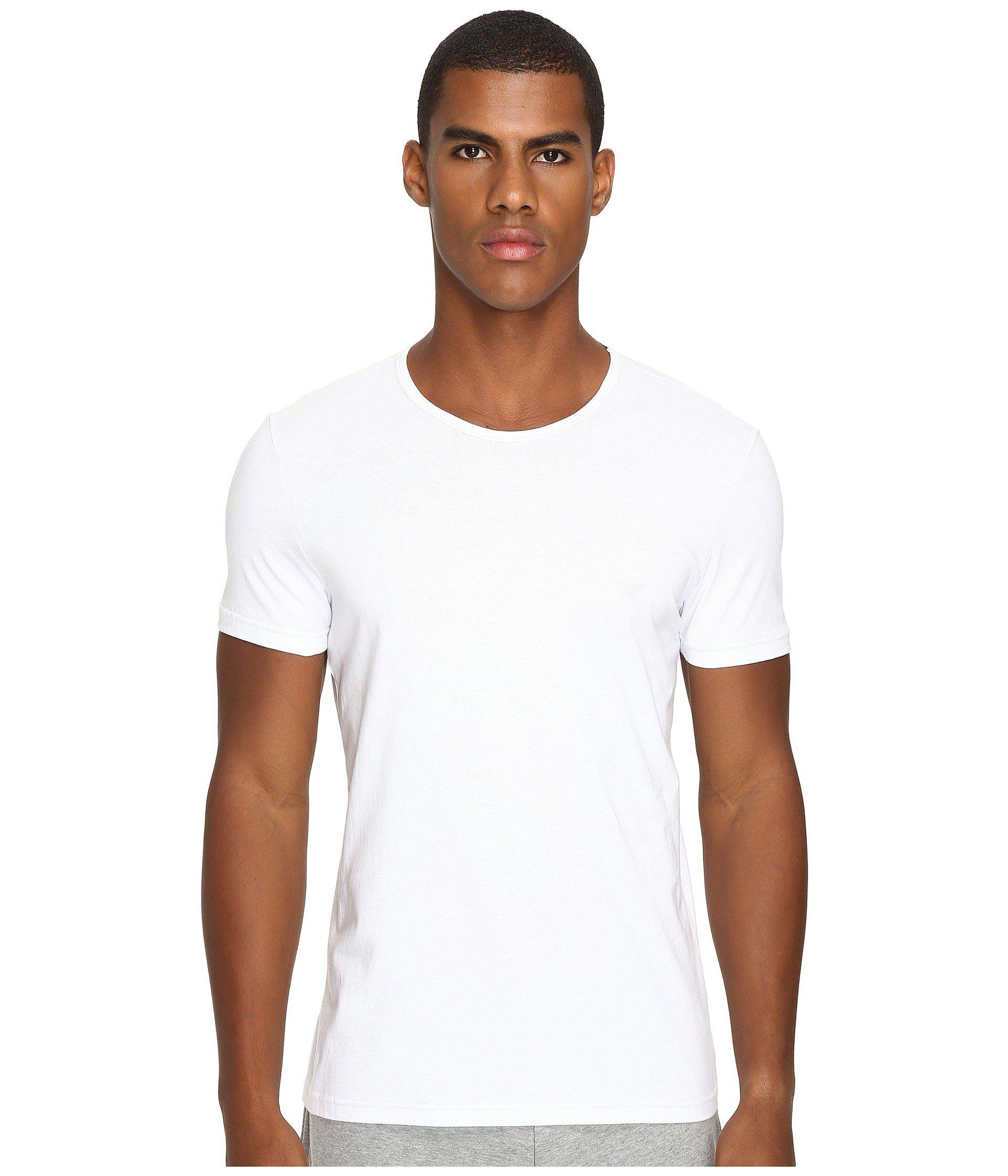 ecdf2a47d08c Lyst - Emporio Armani 3-pack Crew Neck T-shirt (white white white) Men s T  Shirt in Gray for Men