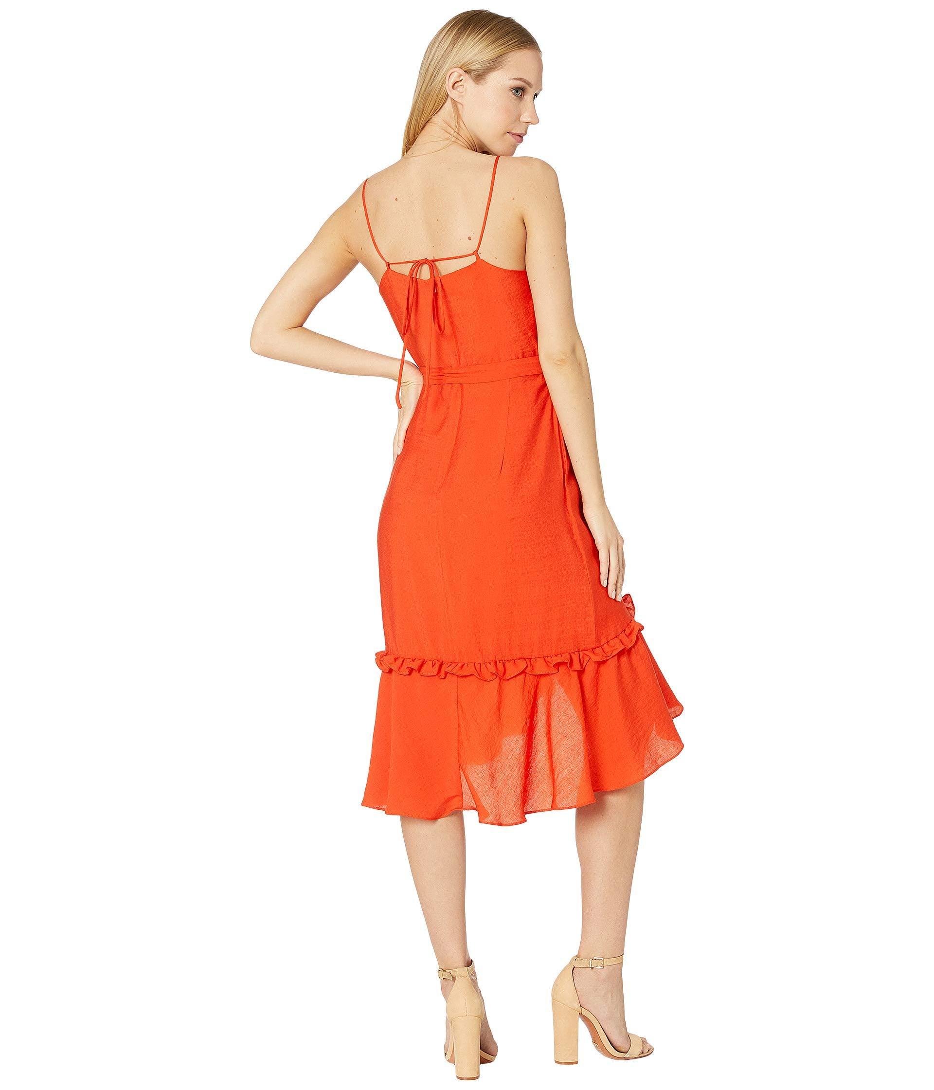39647e19dbb9 Bardot - Zoe Wrap Dress (flame Orange) Women's Dress - Lyst. View fullscreen