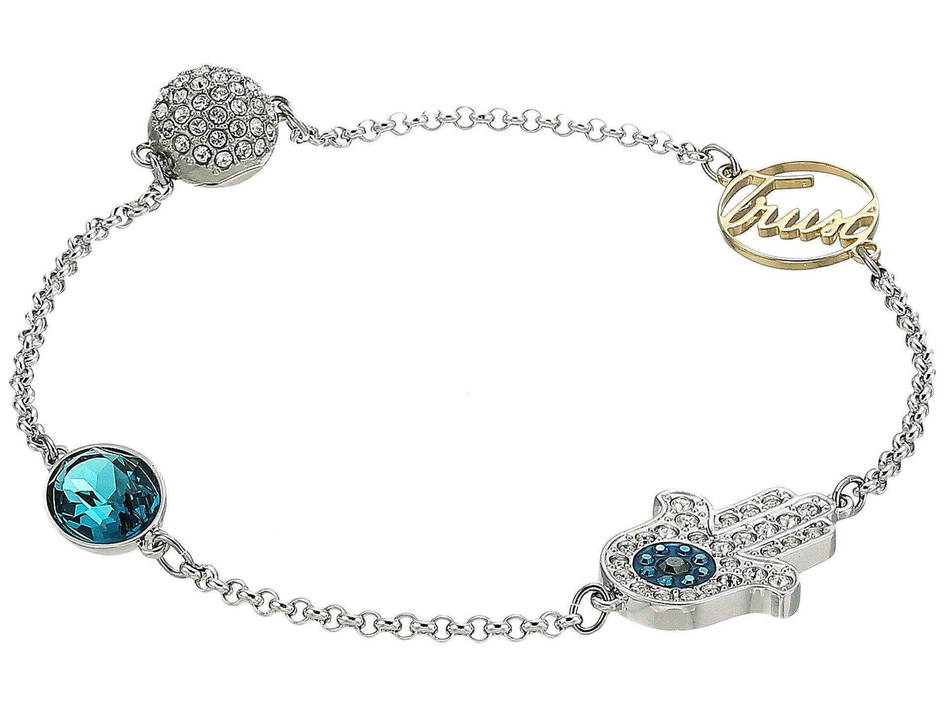 Swarovski Womens Remix Collection Hamsa Hand Symbol Bracelet