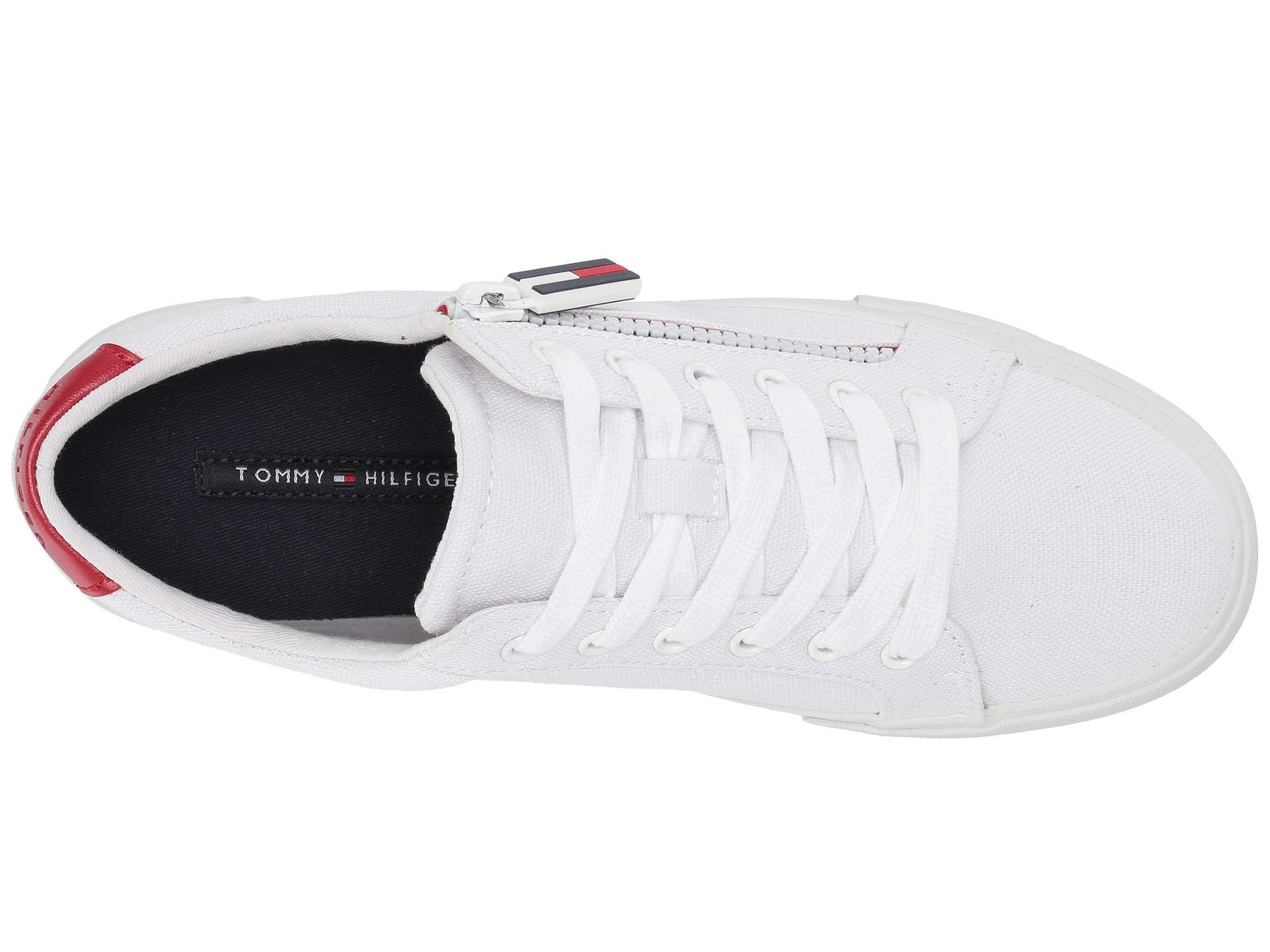 44c7a6792fbd37 Tommy Hilfiger - White Paskal (red Multi Fabric) Women s Shoes - Lyst. View  fullscreen