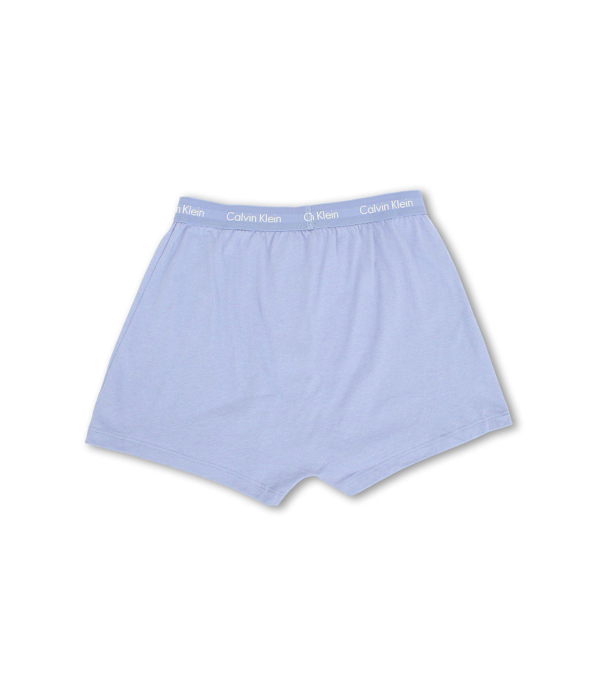 65252dc710 Lyst - Calvin Klein Cotton Classic Knit Boxer 3-pack Nu3040 (black) Men s  Underwear in Blue for Men