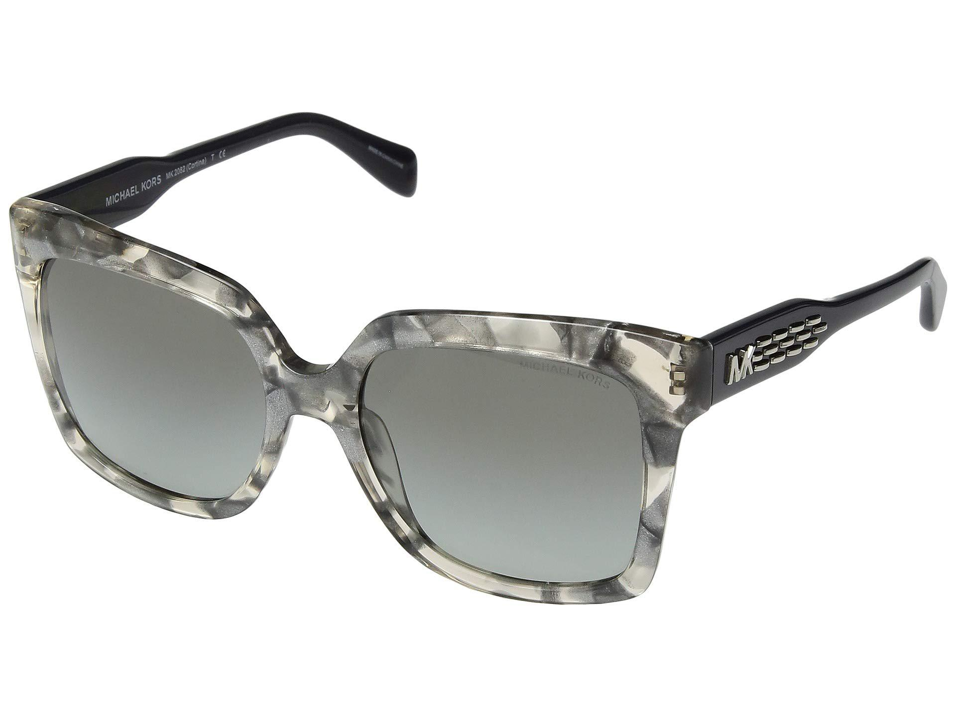 7d45d90f224fe Michael Kors. Women s Gray 0mk2082 55mm (dark Tortoise smoke Gradient) Fashion  Sunglasses