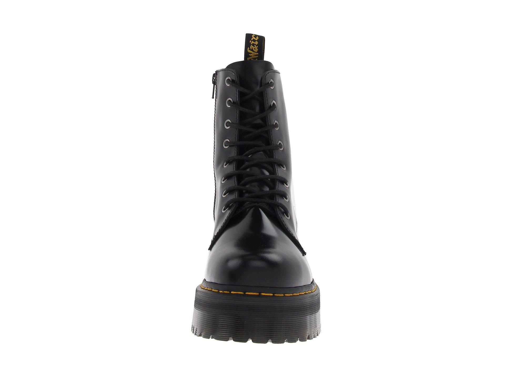 9d12912929b4 Dr. Martens - Jadon 8-eye Boot (black Polished Smooth) Lace-. View  fullscreen