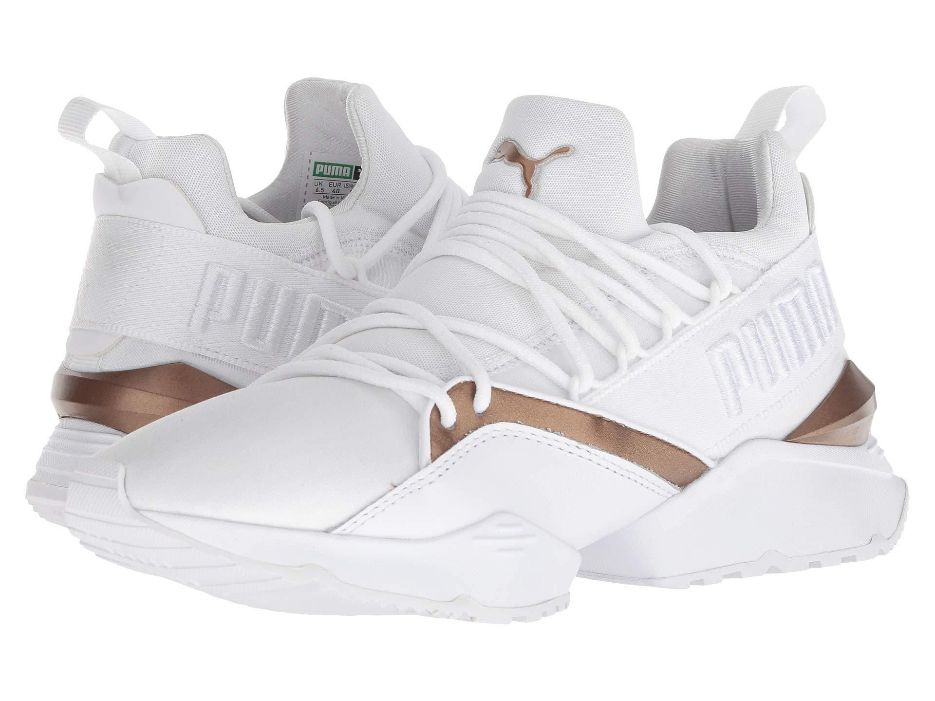 a41522385b8 PUMA - White Muse Maia Luxe ( Black  Black) Women s Lace Up Casual Shoes.  View fullscreen