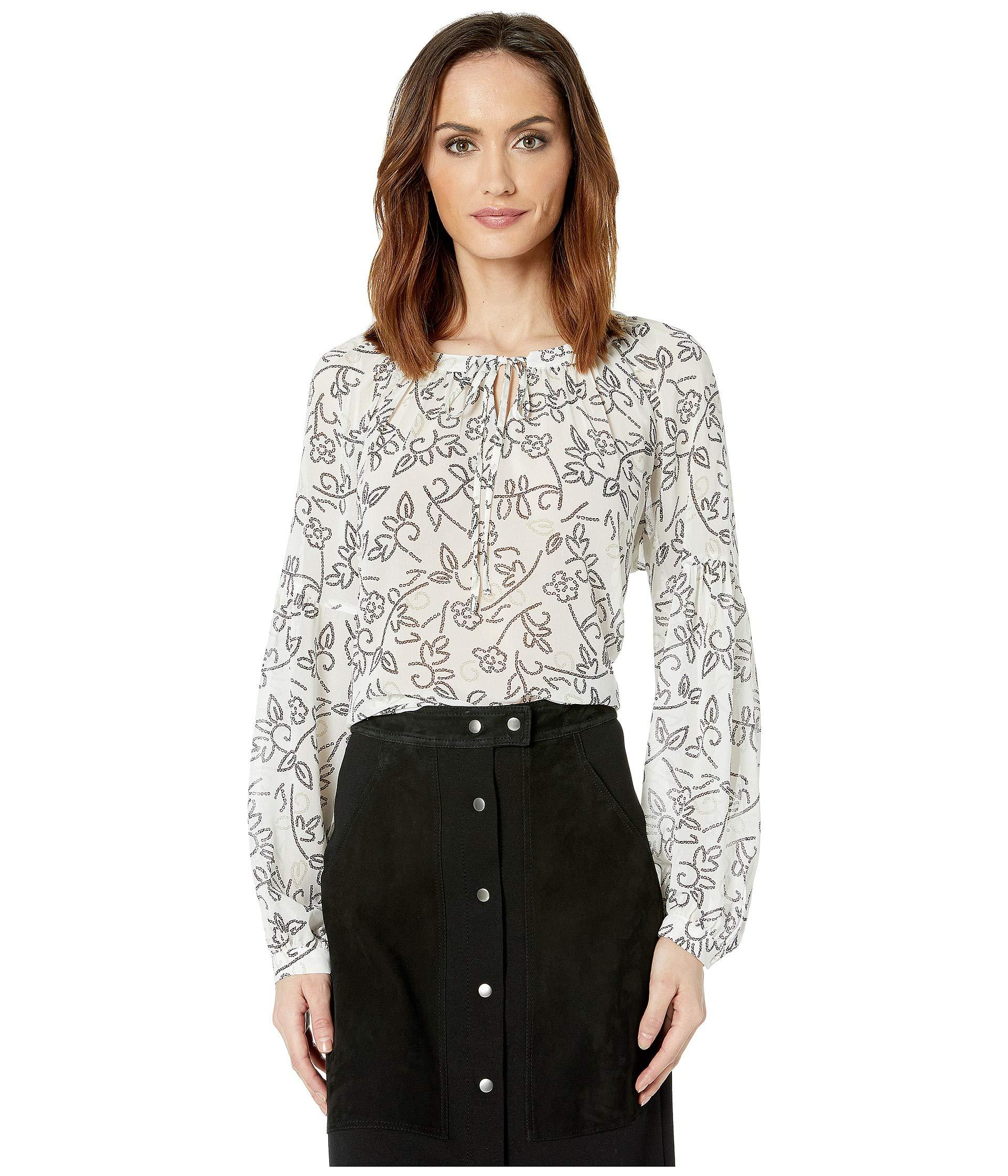 5ee33d0c70 Lyst - Two By Vince Camuto Long Sleeve Mosaic Floral Peasant Blouse ...