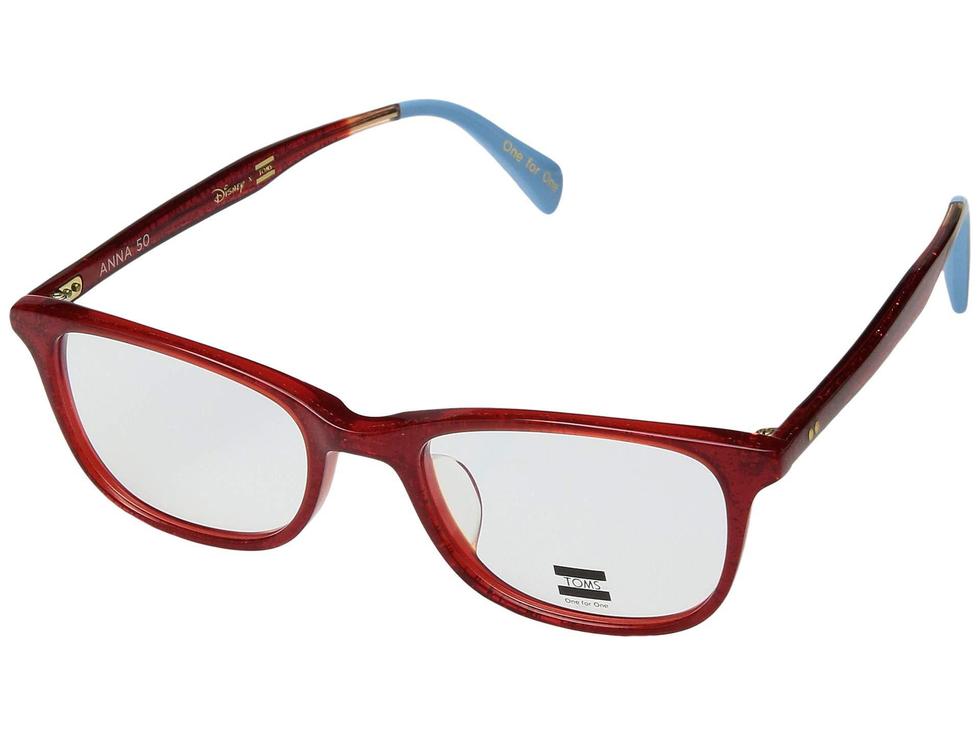 7491e9487d Lyst - TOMS Disney(r) Anna 50 (red Glitter) Fashion Sunglasses in Red
