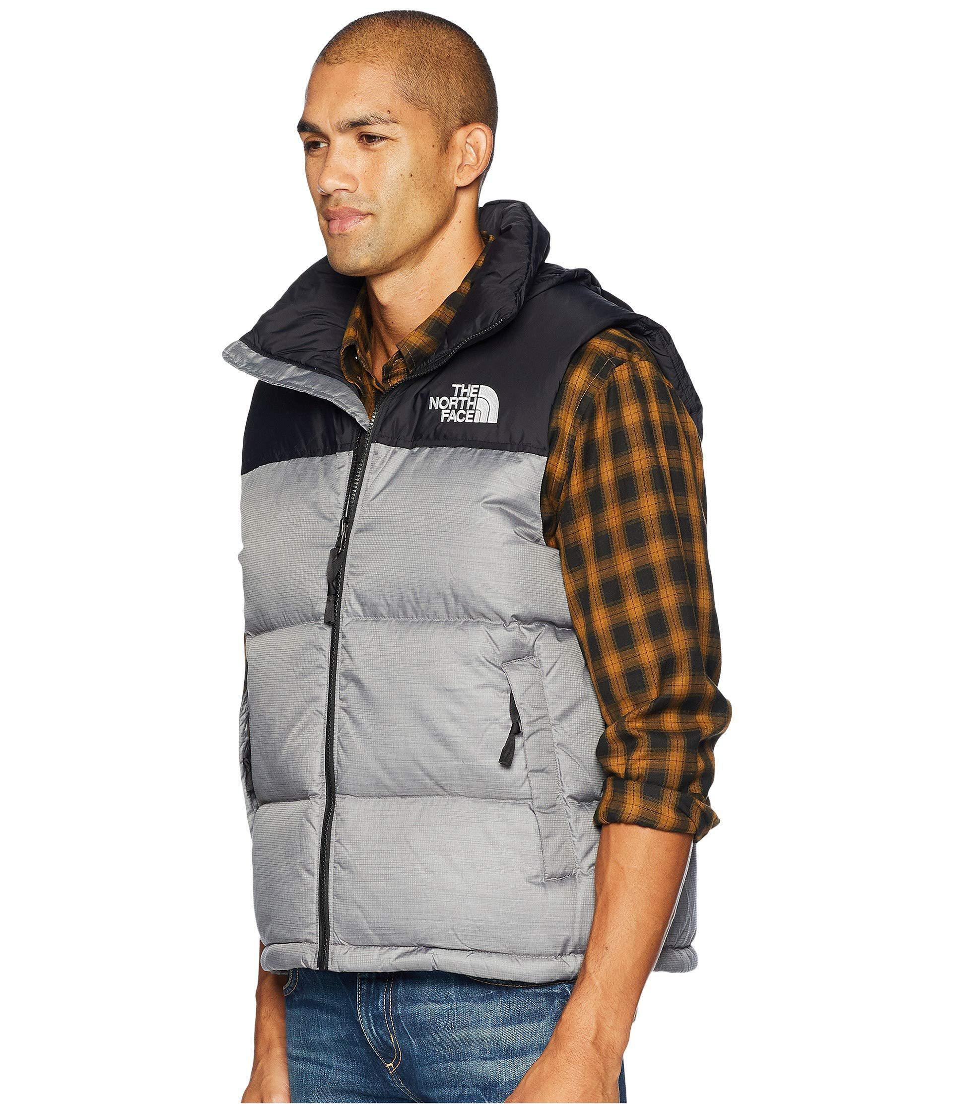 605358e226 Lyst - The North Face 1996 Retro Nuptse Vest (aztec Blue) Men s Vest in  Gray for Men