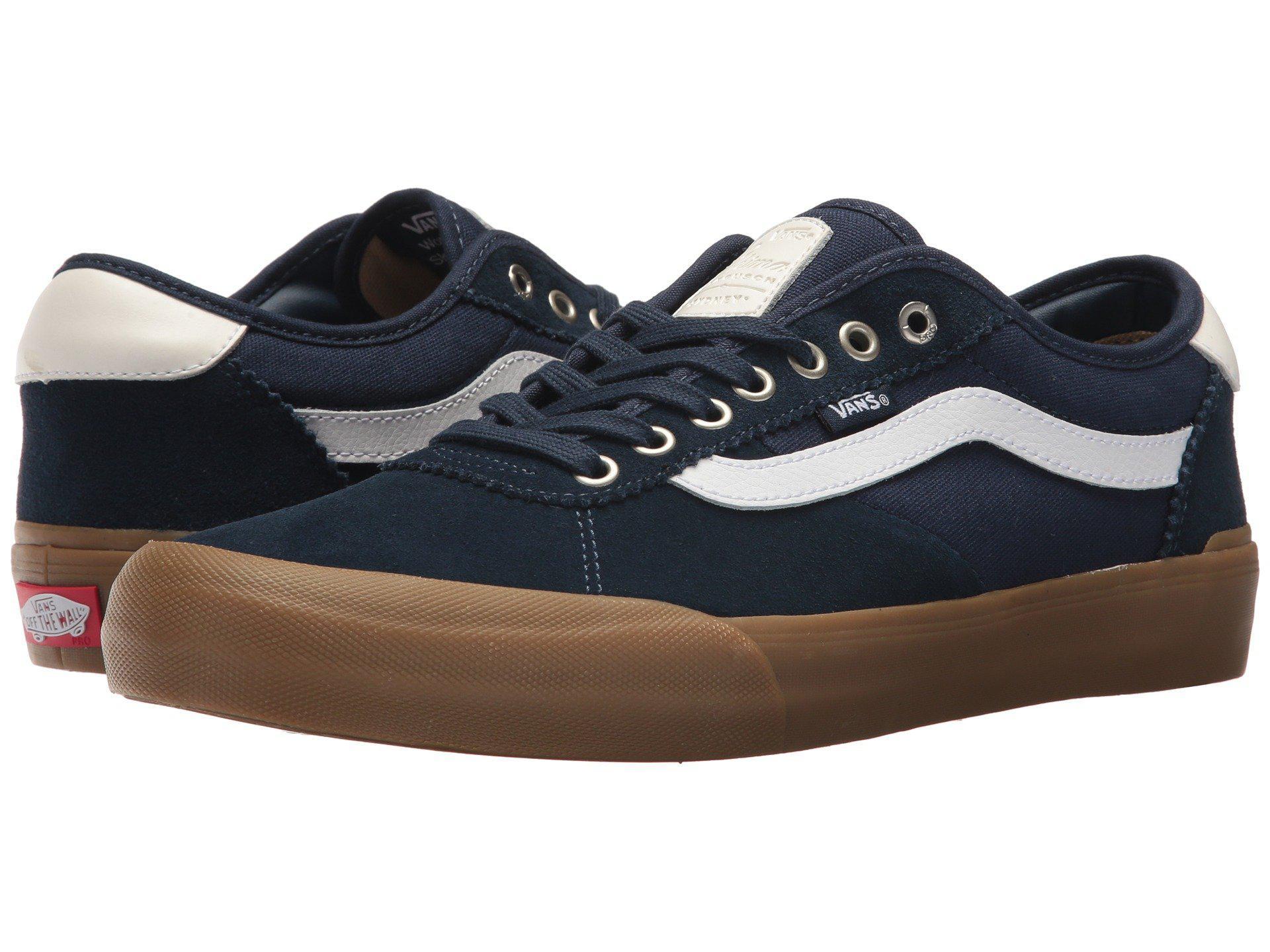 Lyst - Vans Chima Pro 2 (navy gum white) Men s Skate Shoes in Blue ... 78ddffe46