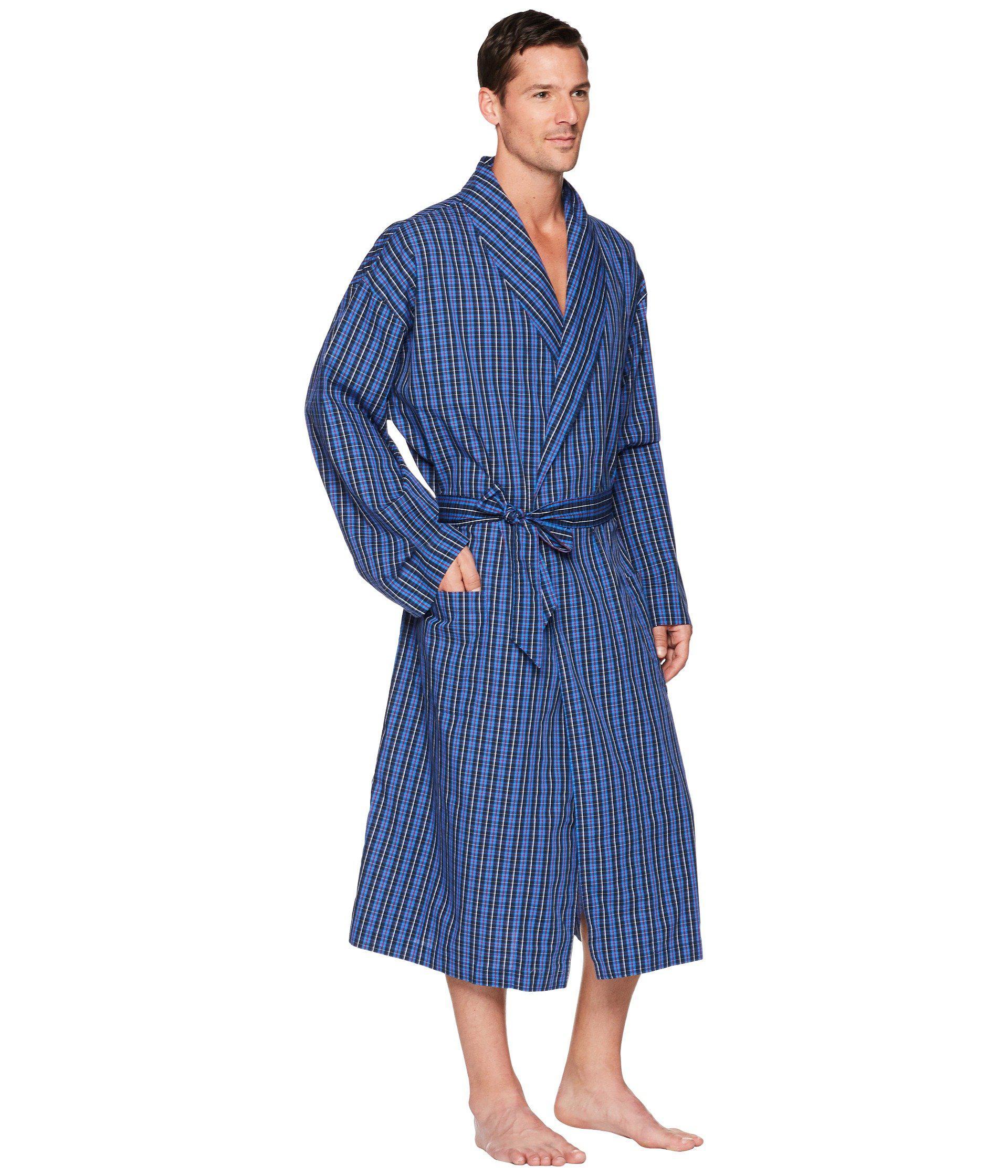 40475e4db4e Polo Ralph Lauren - Blue Woven Robe (soho Plaid) Men s Robe for Men -. View  fullscreen