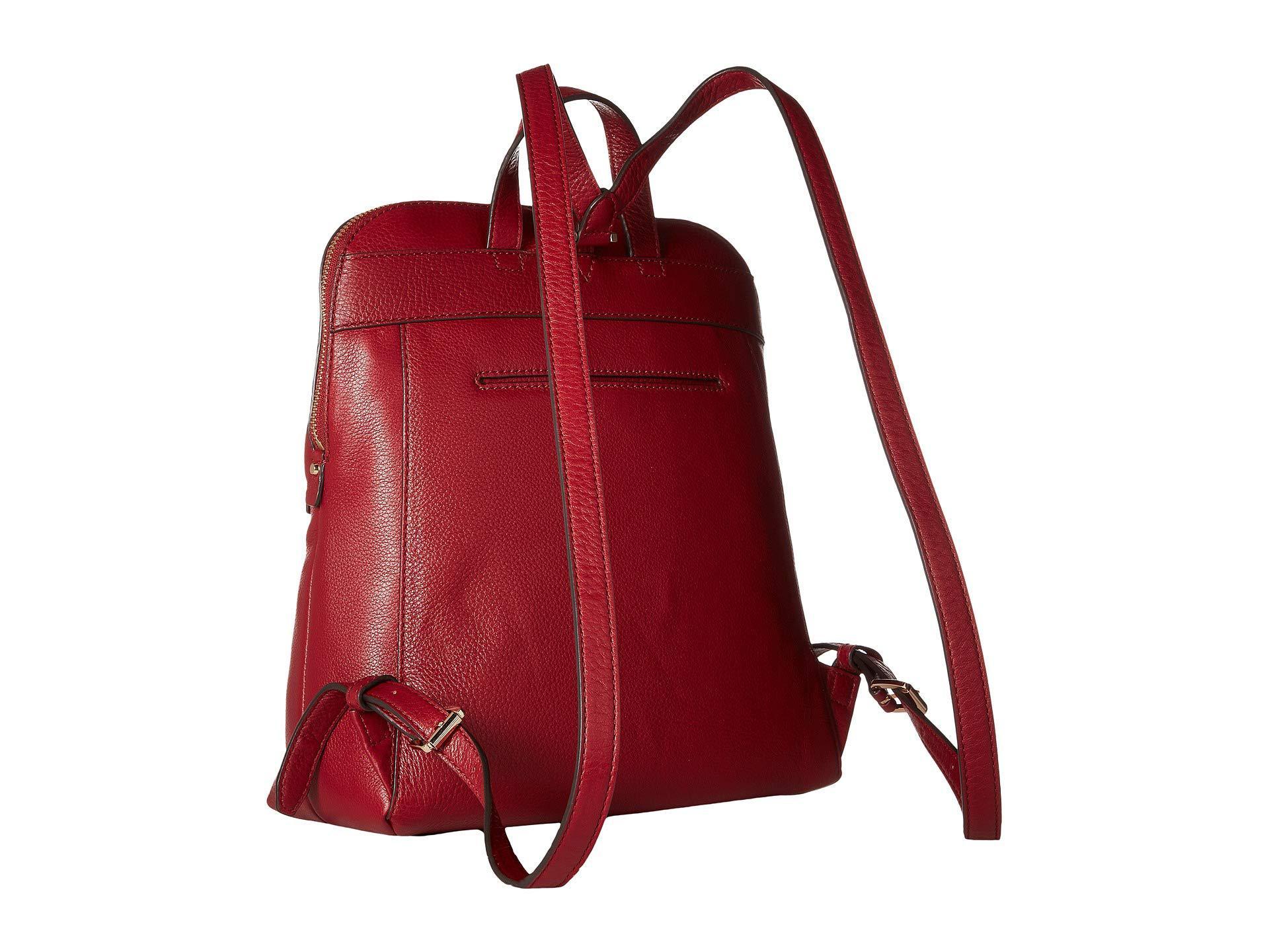 4e0bdbe1ae4f ... usa michael michael kors red rhea zip medium slim backpack acorn  backpack bags . view fullscreen