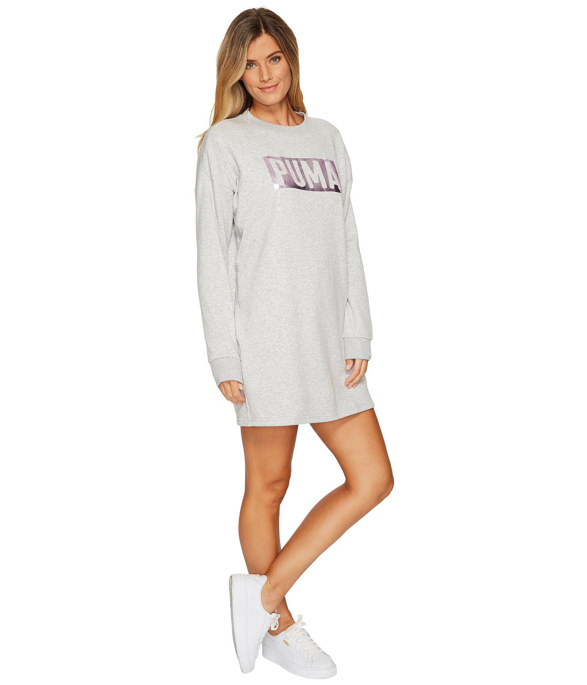 hyvä valtava valikoima halpa hinta PUMA Gray Fusion Crew Sweat Dress
