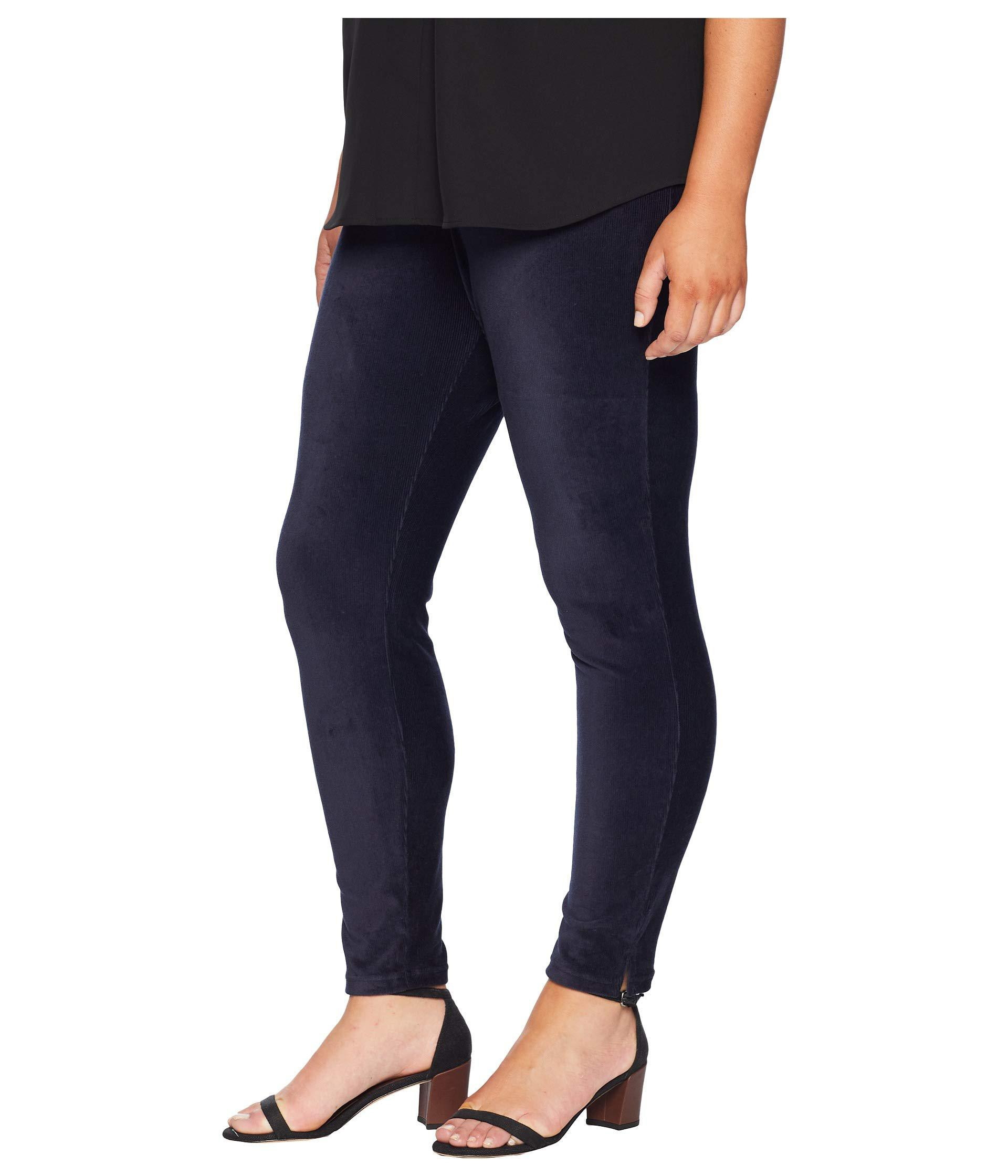 6ee01a85ef80a1 Lyst - Hue Plus Size High-waist Corduroy Leggings (navy) Women's Casual  Pants in Blue