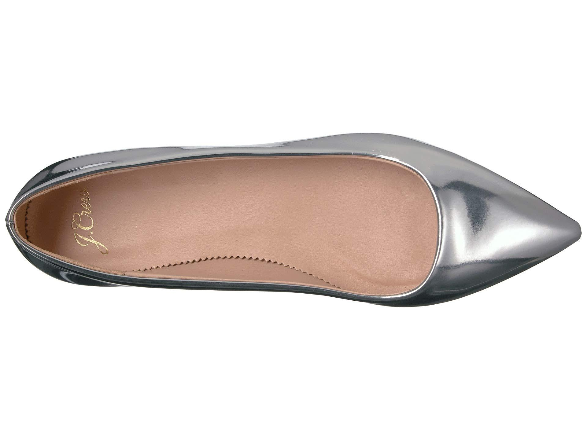 a64cc8dd5b27 Lyst - J.Crew Pointy Toe Flat In Metallic (silver Mirror) Women s ...