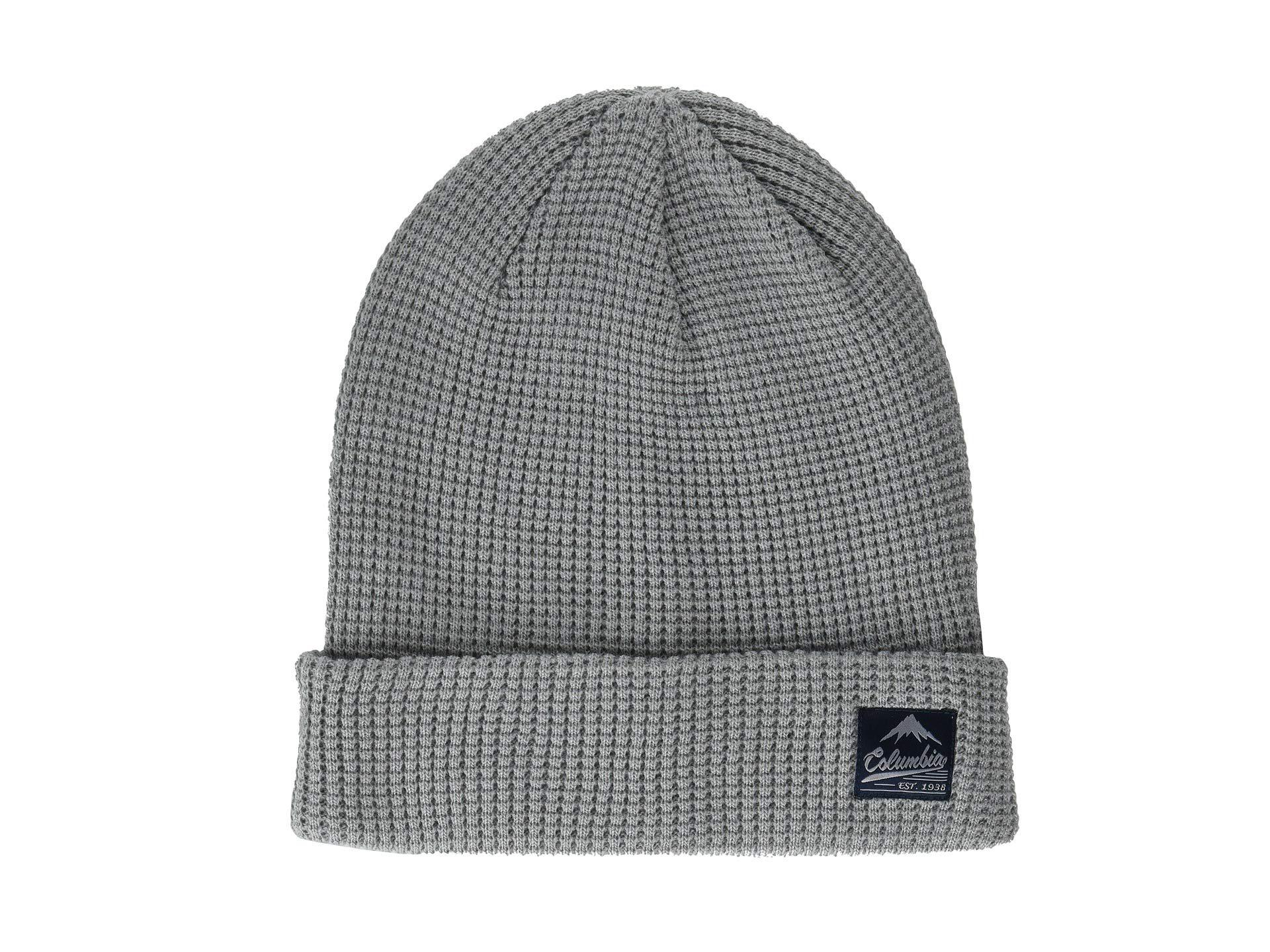6c559333250 Lyst - Columbia Lost Lager Waffle Beanie in Gray for Men