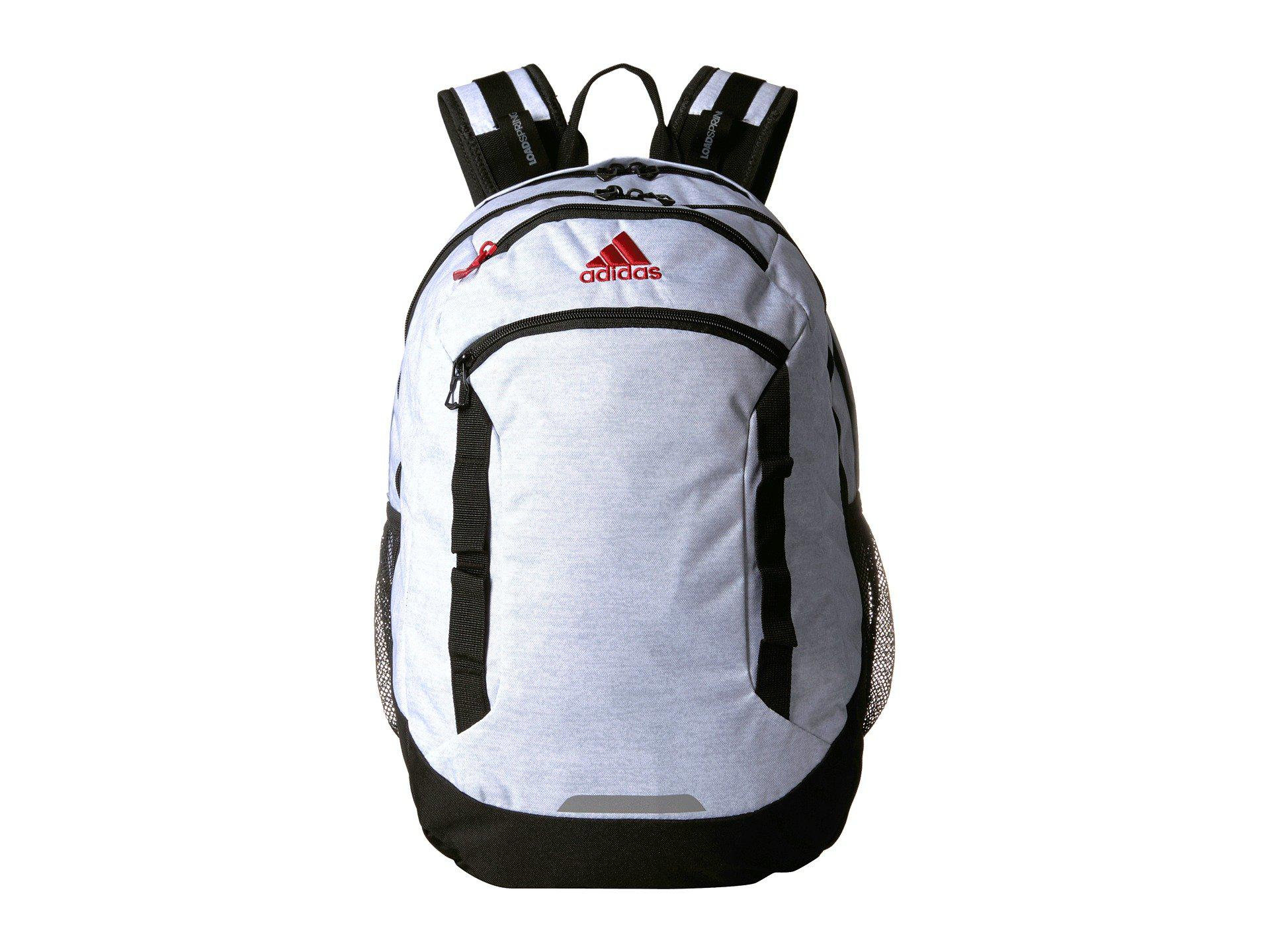 3714204cb8c adidas Excel Iv Backpack (white Jersey/black/scarlet) Backpack Bags ...