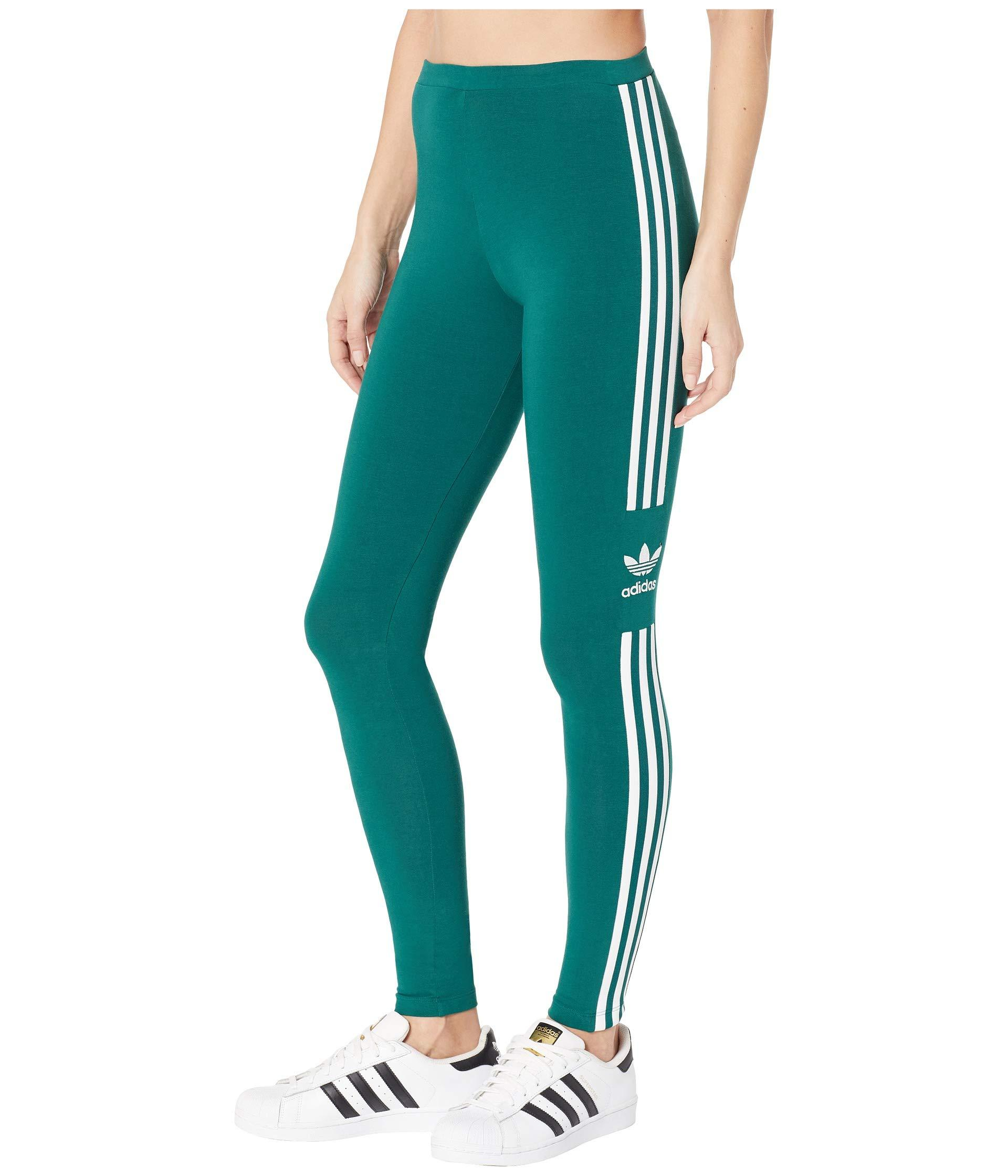 46f159a139e07f adidas Originals Trefoil Tights (black 1) Women's Workout in Green ...