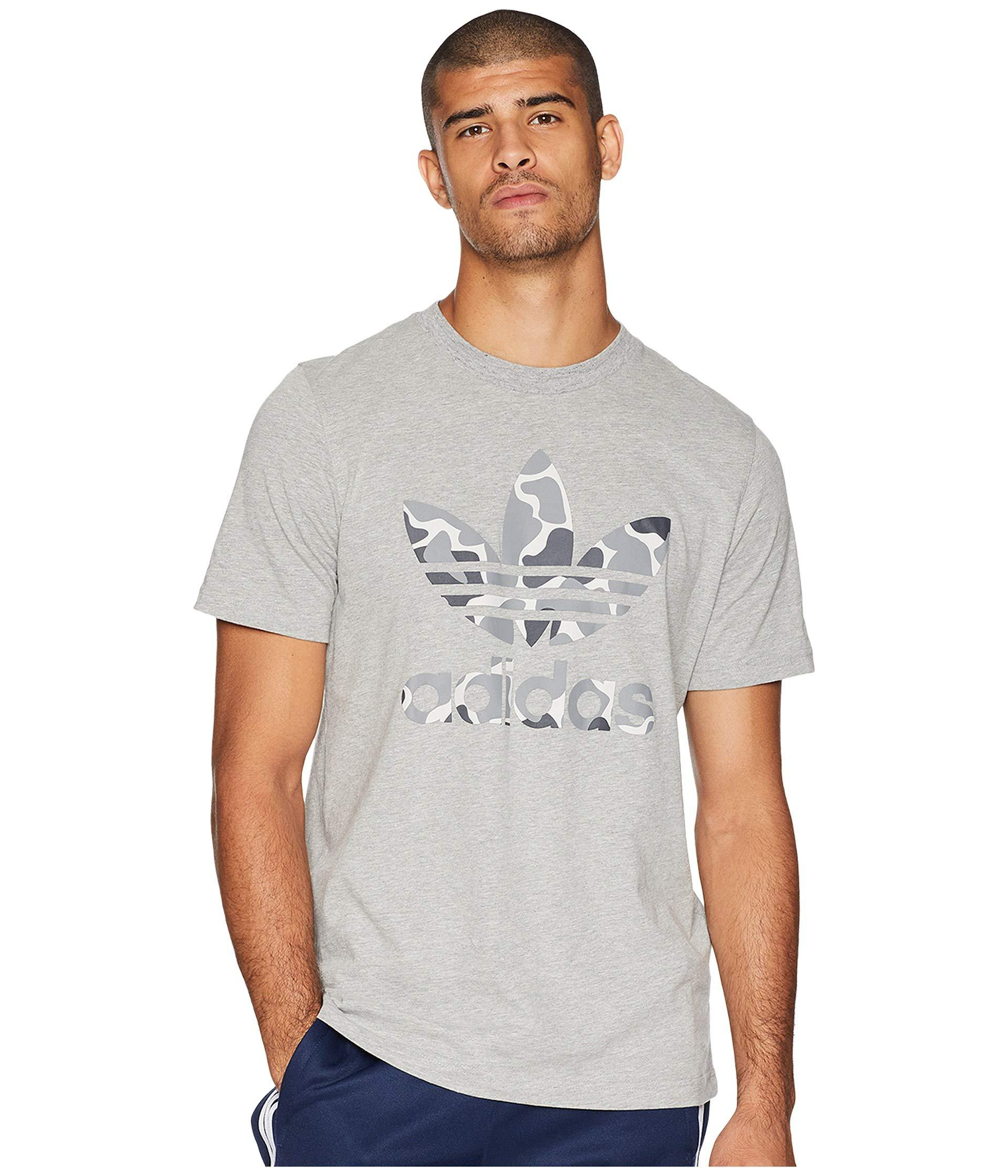 845eb6cfe adidas Originals Camo Trefoil Tee (black) Men's T Shirt in Gray for ...