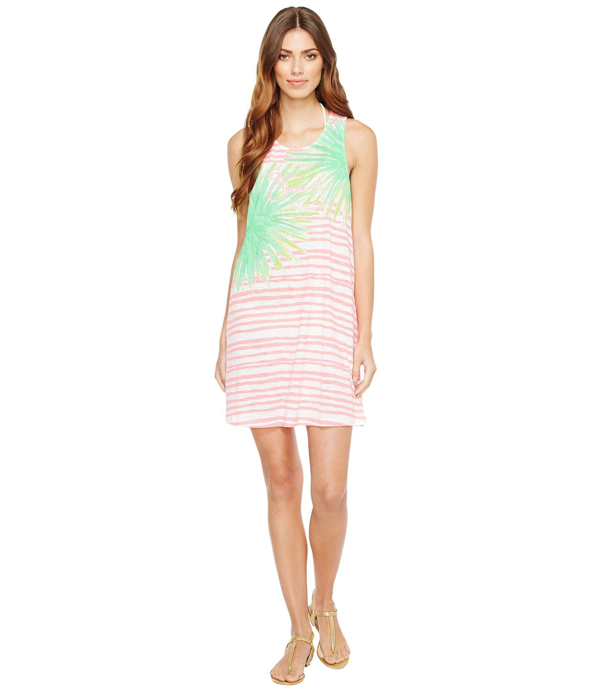 02f7deb5b0 Lyst - Lilly Pulitzer Whitney Cover-up (coral Reef Gone Coconuts ...