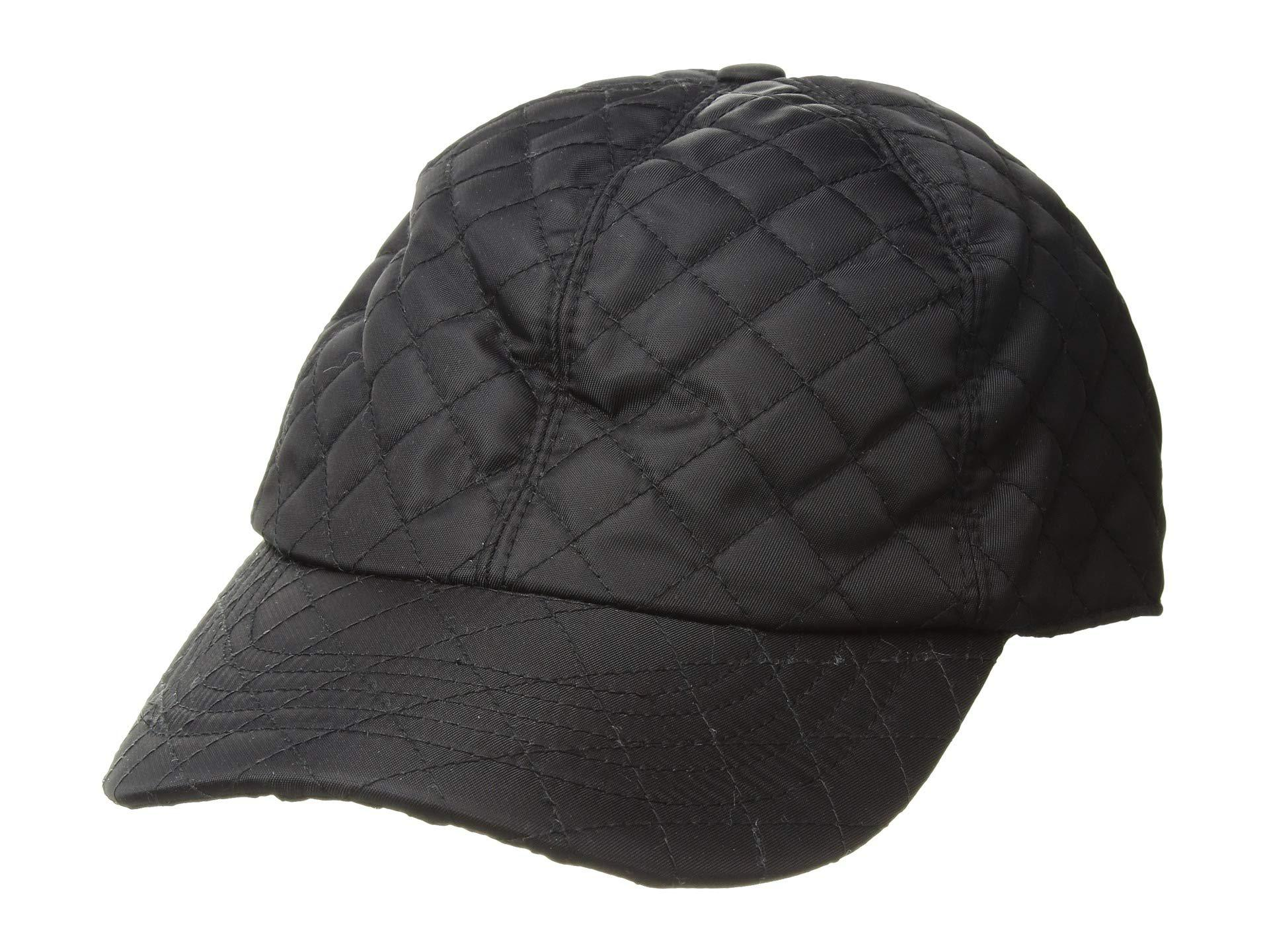 d902cac789e Lyst - Betmar Quilted Rain Cap (black) Caps in Black