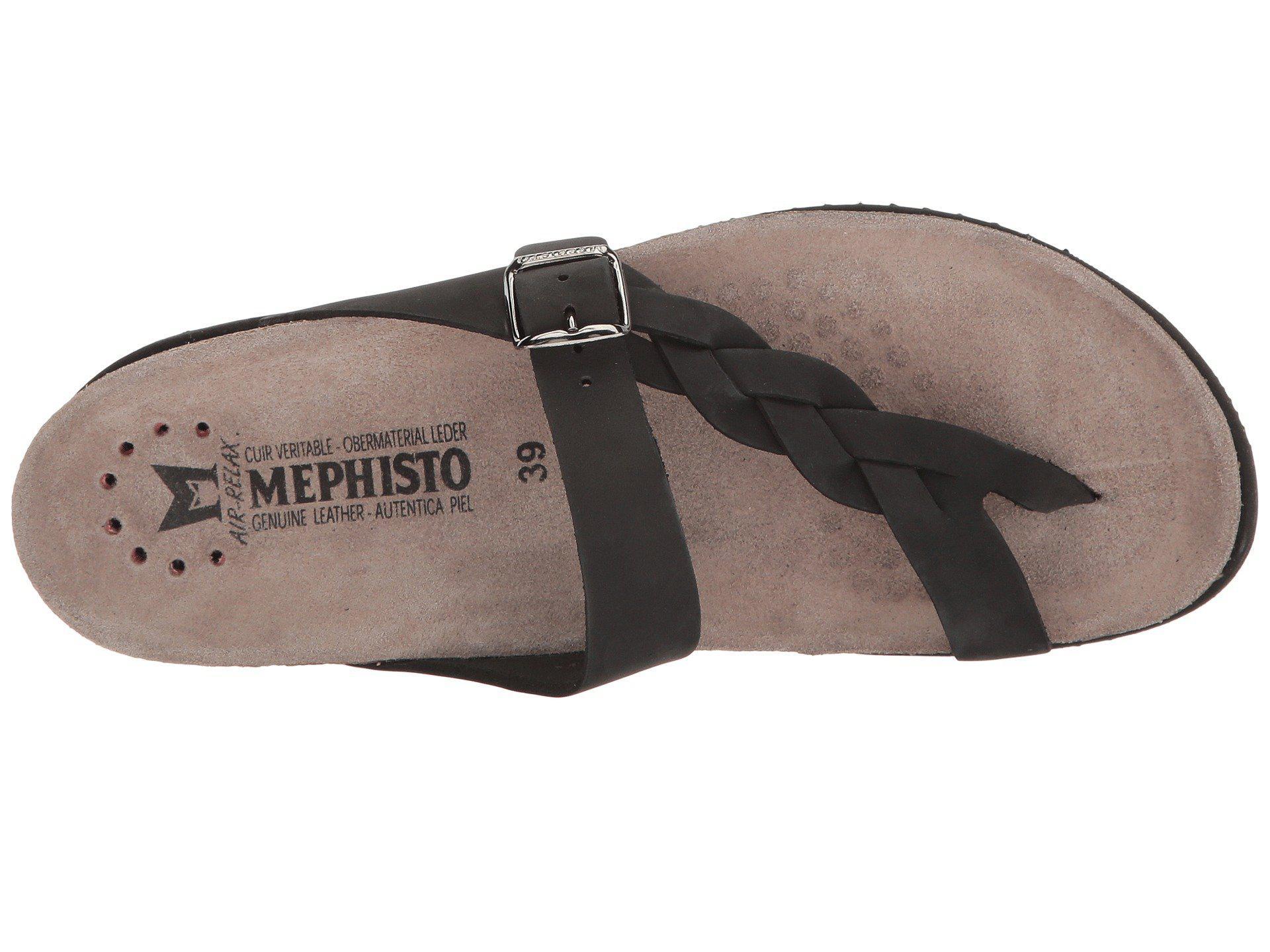 fa8cc6ab6b Mephisto - Black Helen Twist Flip Flop - Lyst. View fullscreen