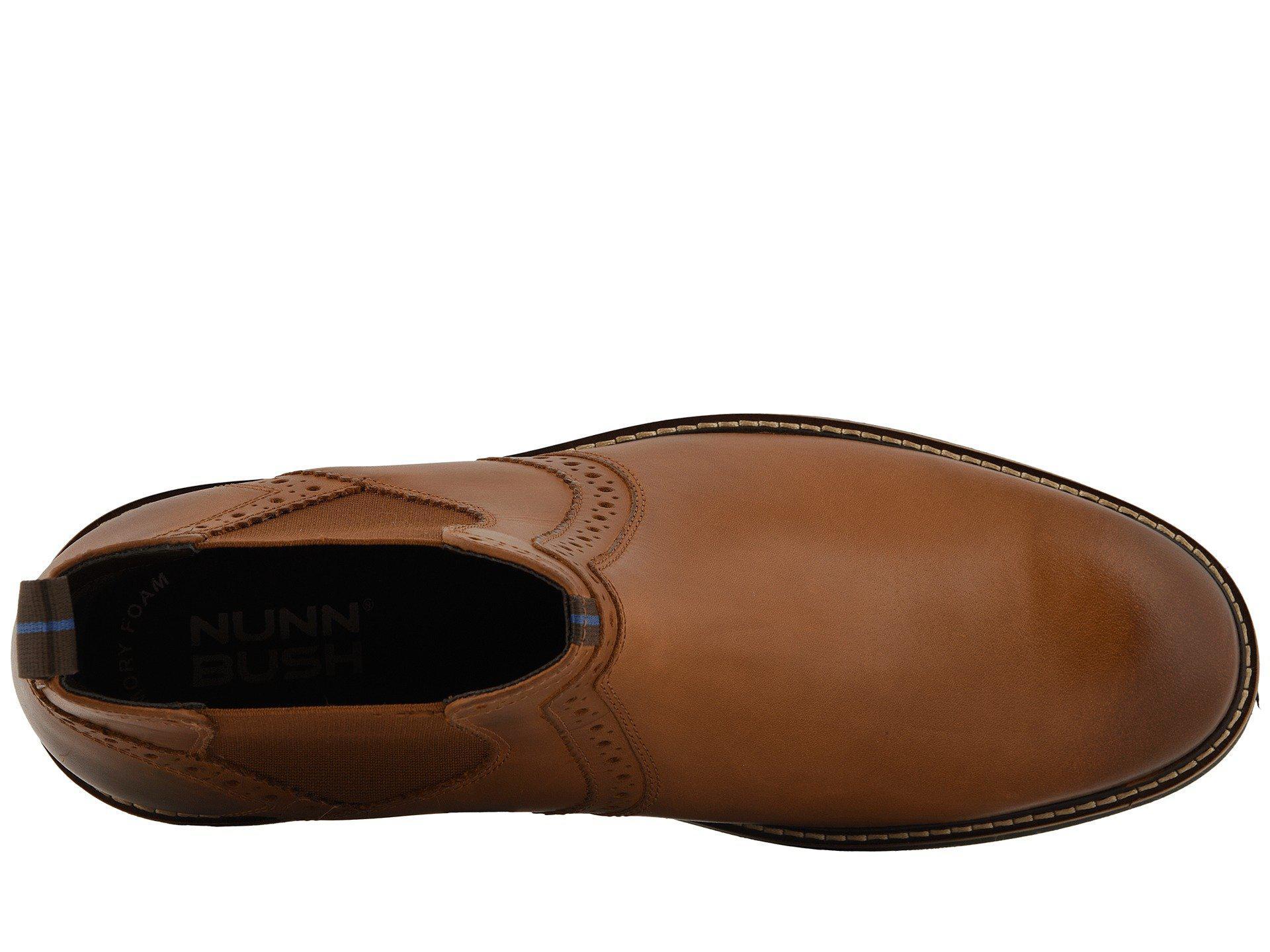 45aa073c9655 Nunn Bush - Brown Otis Plain Toe Chelsea Boot With Kore Walking Comfort  Technology (rust. View fullscreen