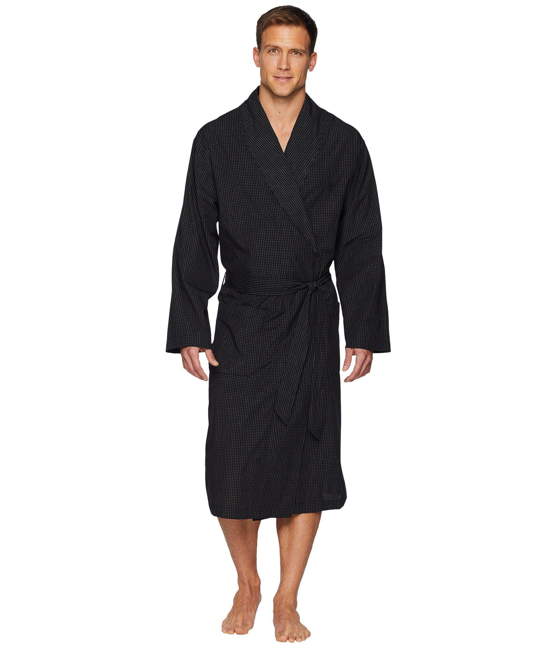 98fb38fabf7 Polo Ralph Lauren - Black Woven Robe (harwick Plaid) Men s Robe for Men -.  View fullscreen