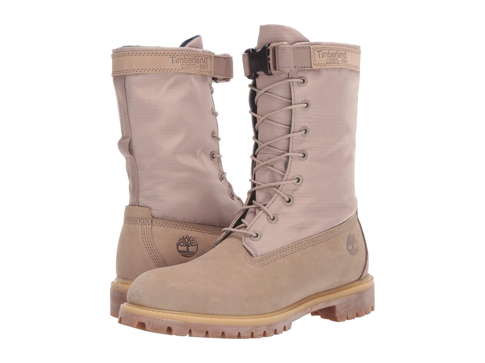 d958867eb0 Timberland - Natural 6 Premium Gaiter Boot (dark Beige Nubuck) Men s  Lace-up. View fullscreen