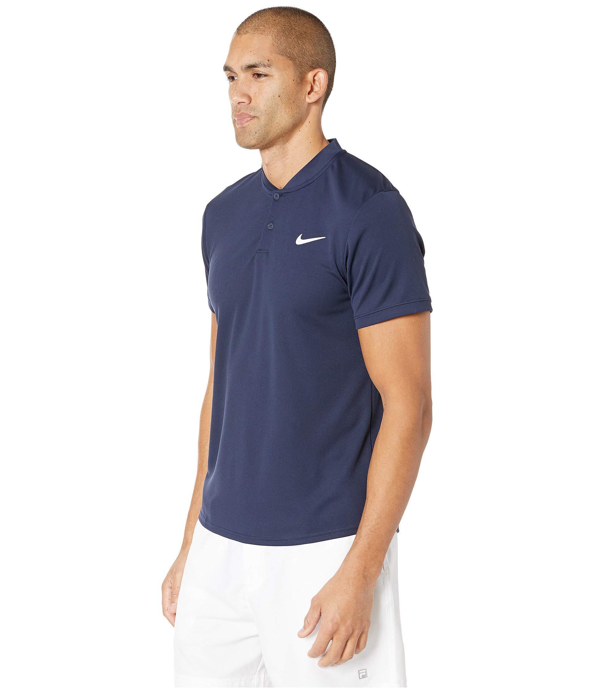911d64fc Lyst - Nike Court Dry Polo Blade (black/white) Men's Clothing in Blue for  Men