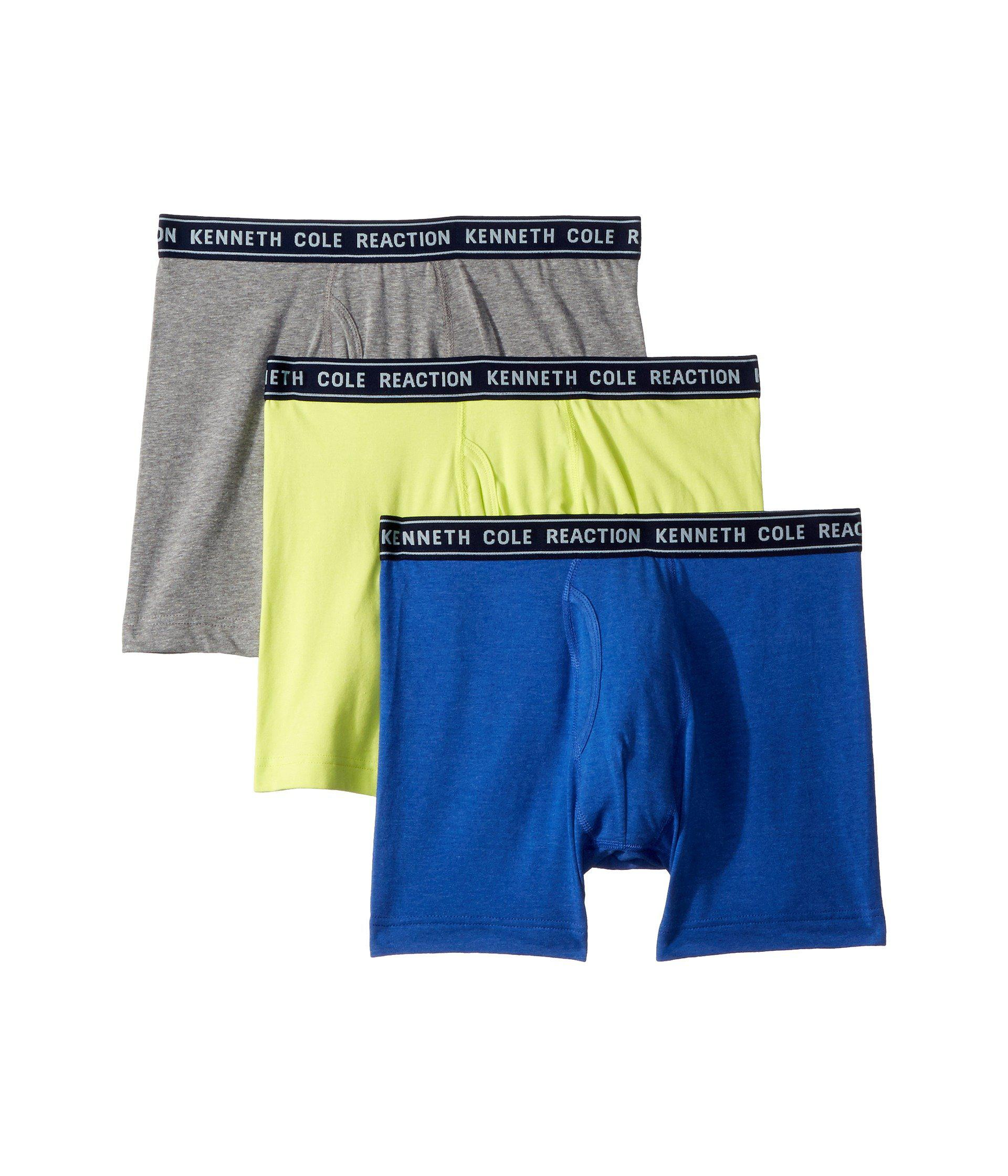 cd1d18eff00dcb Lyst - Kenneth Cole Reaction 3-pack Basic Boxer Brief in Gray for Men