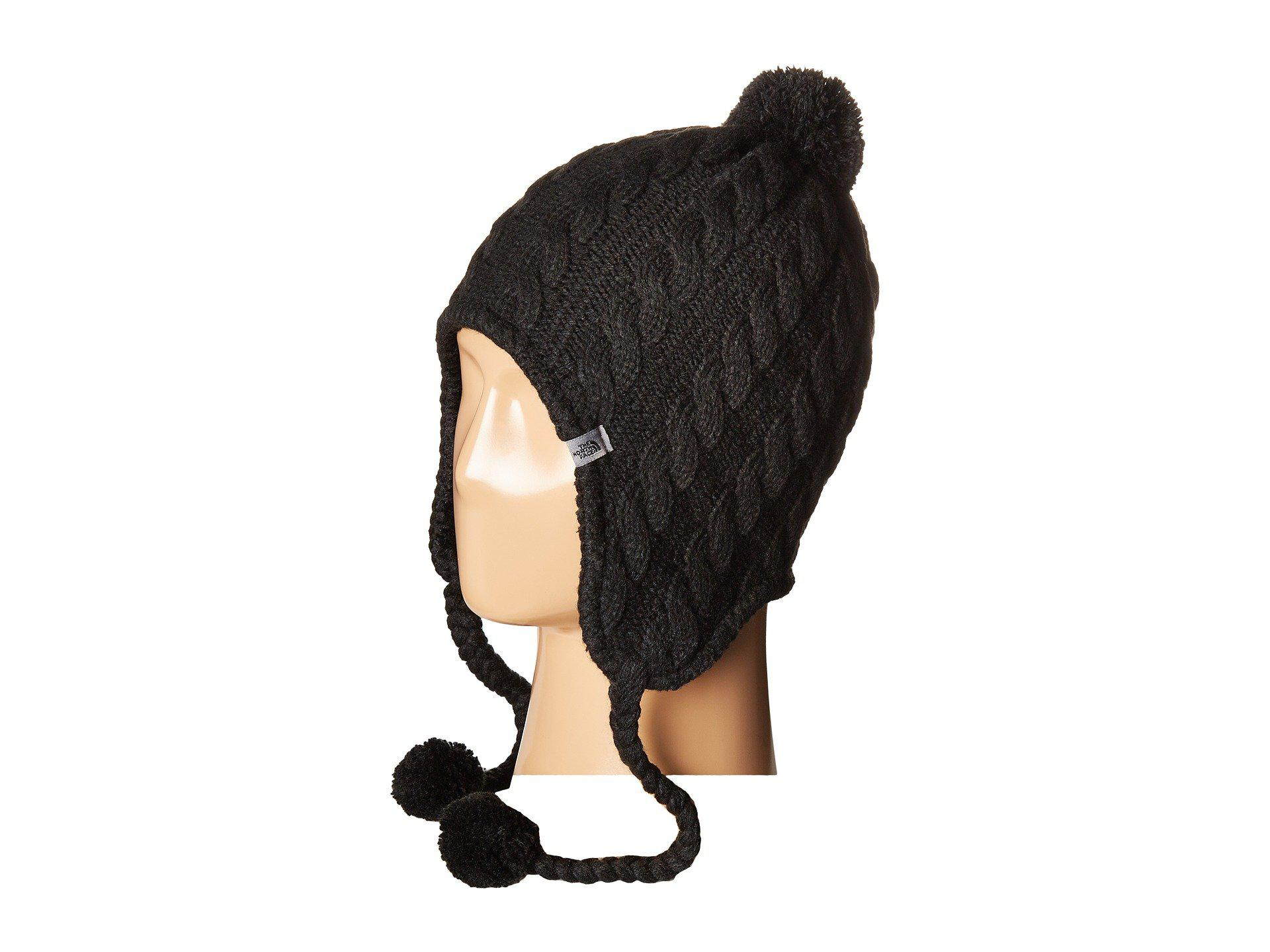 Lyst - The North Face Fuzzy Earflap Beanie in Black for Men b9c2ae47c1cc