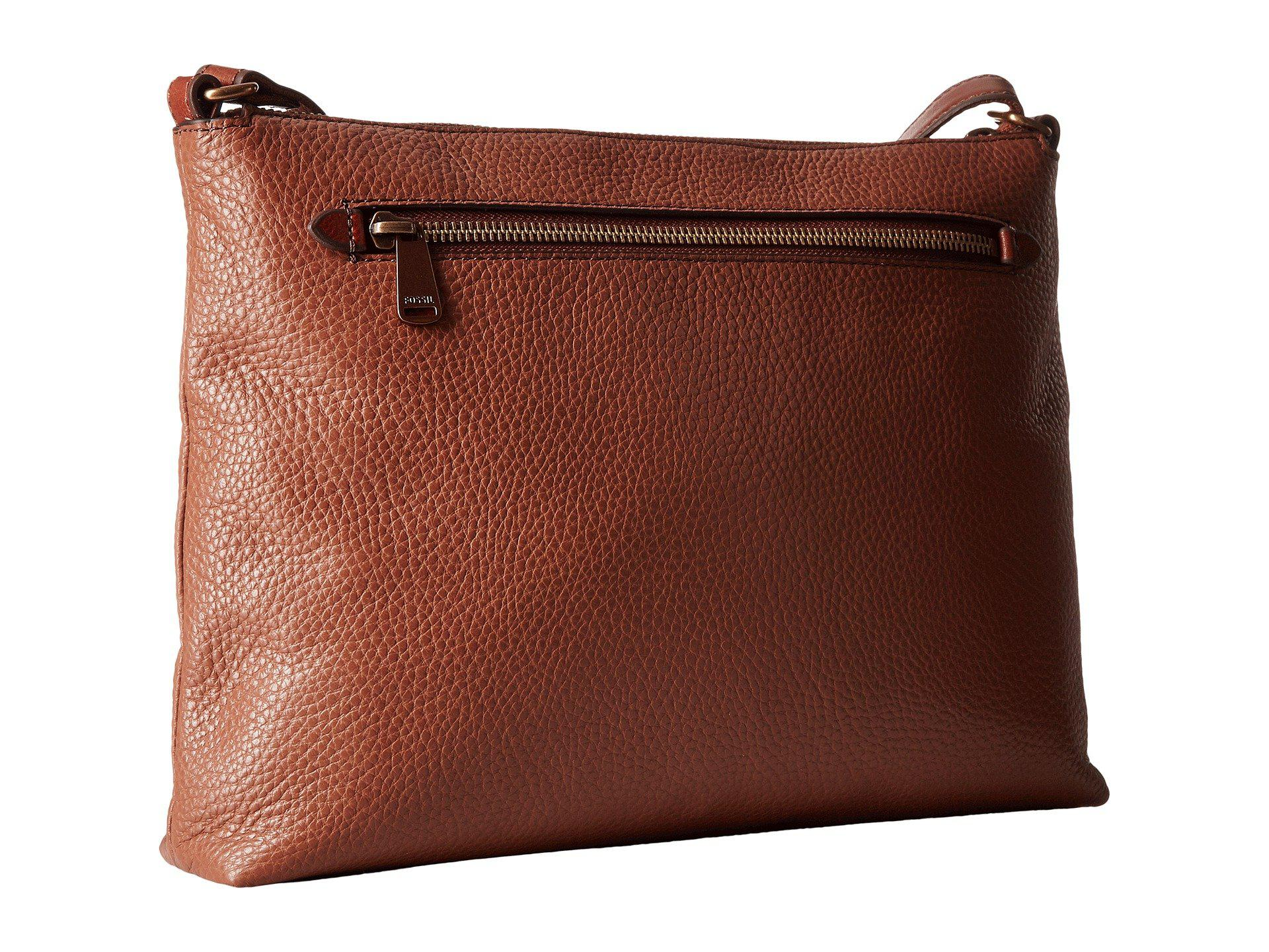 Lyst - Fossil Kinley Crossbody in Brown 97f2c94a1f