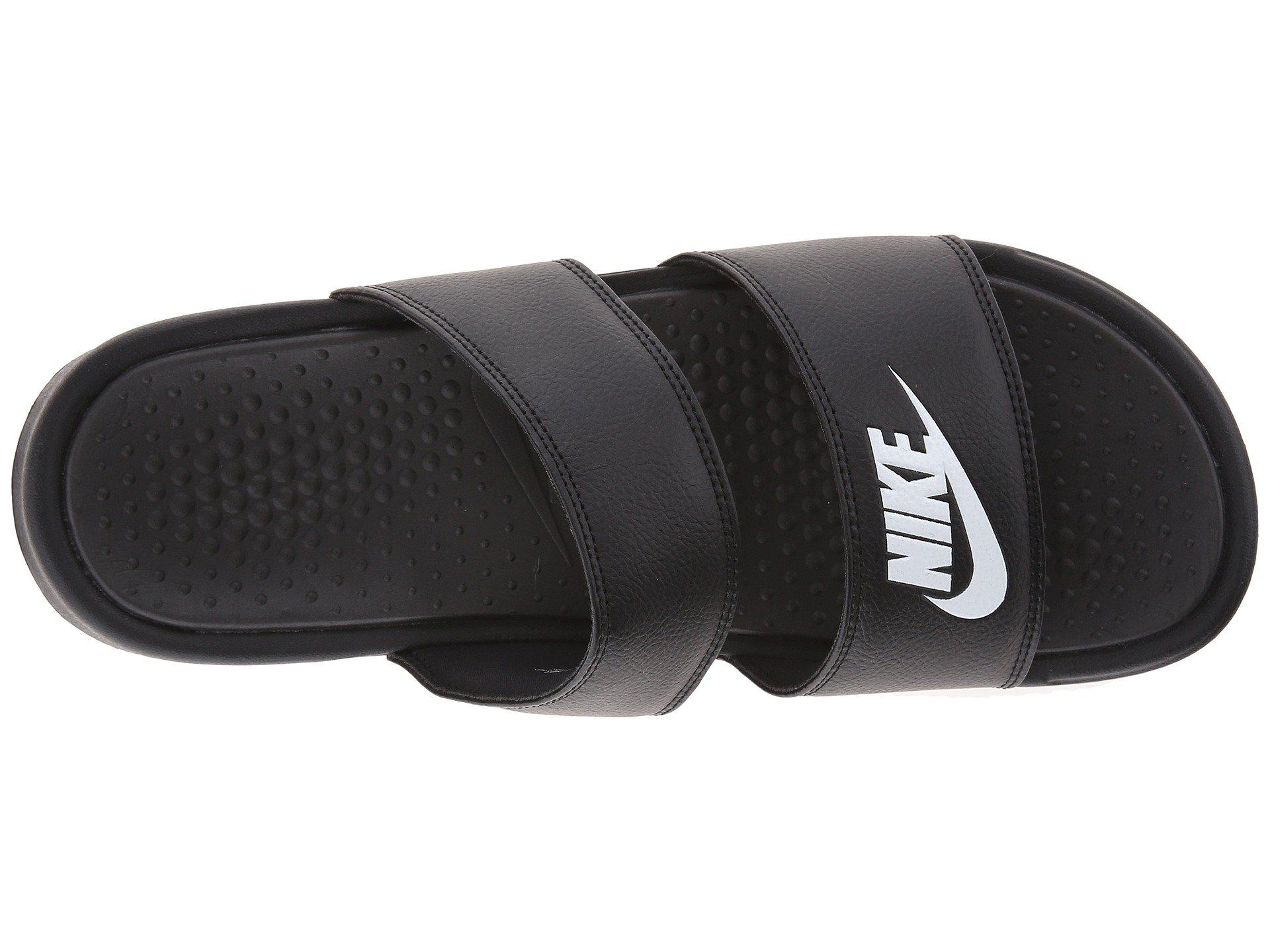 3165e4a1e33 Nike - Benassi Duo Ultra Slide (black white) Women s Slide Shoes - Lyst.  View fullscreen