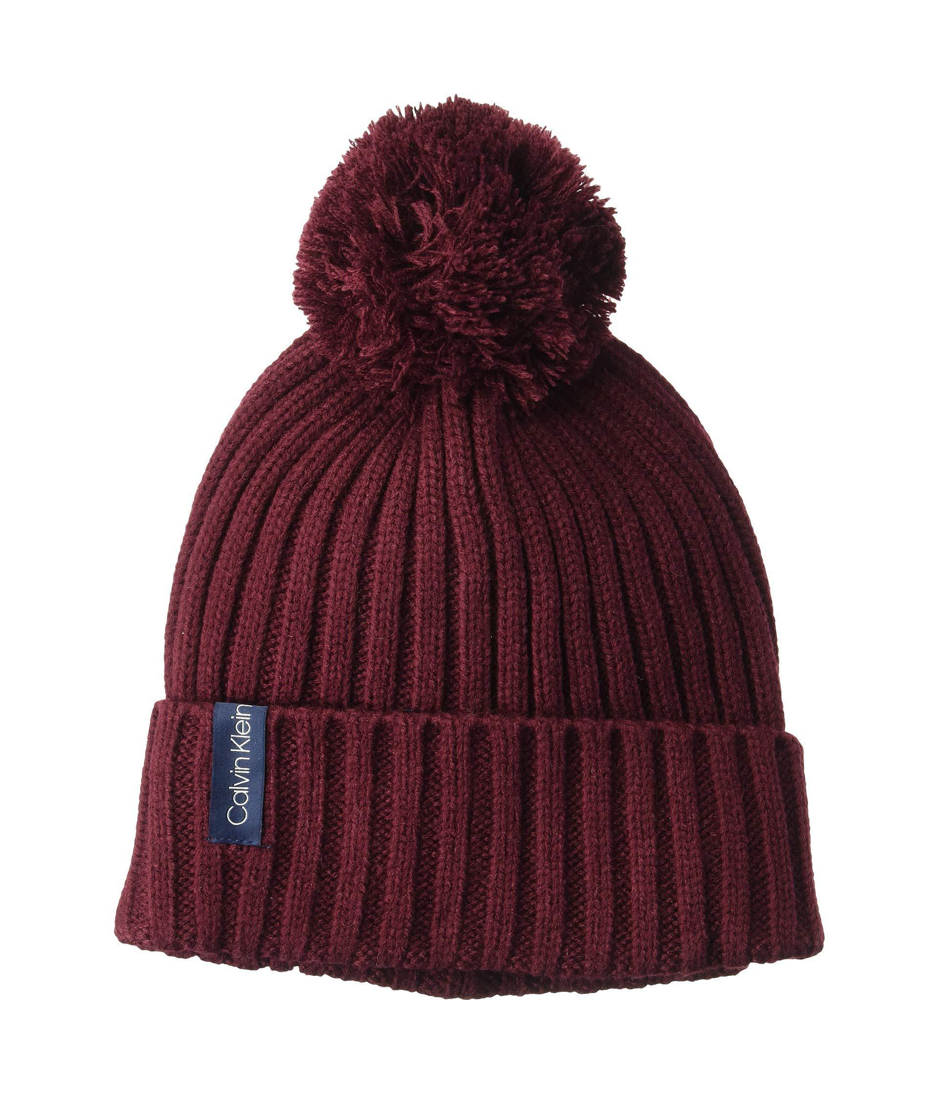 babfd89a4eb Calvin Klein - Multicolor Basic Rib Pom Hat (faded Blue) Caps - Lyst. View  fullscreen