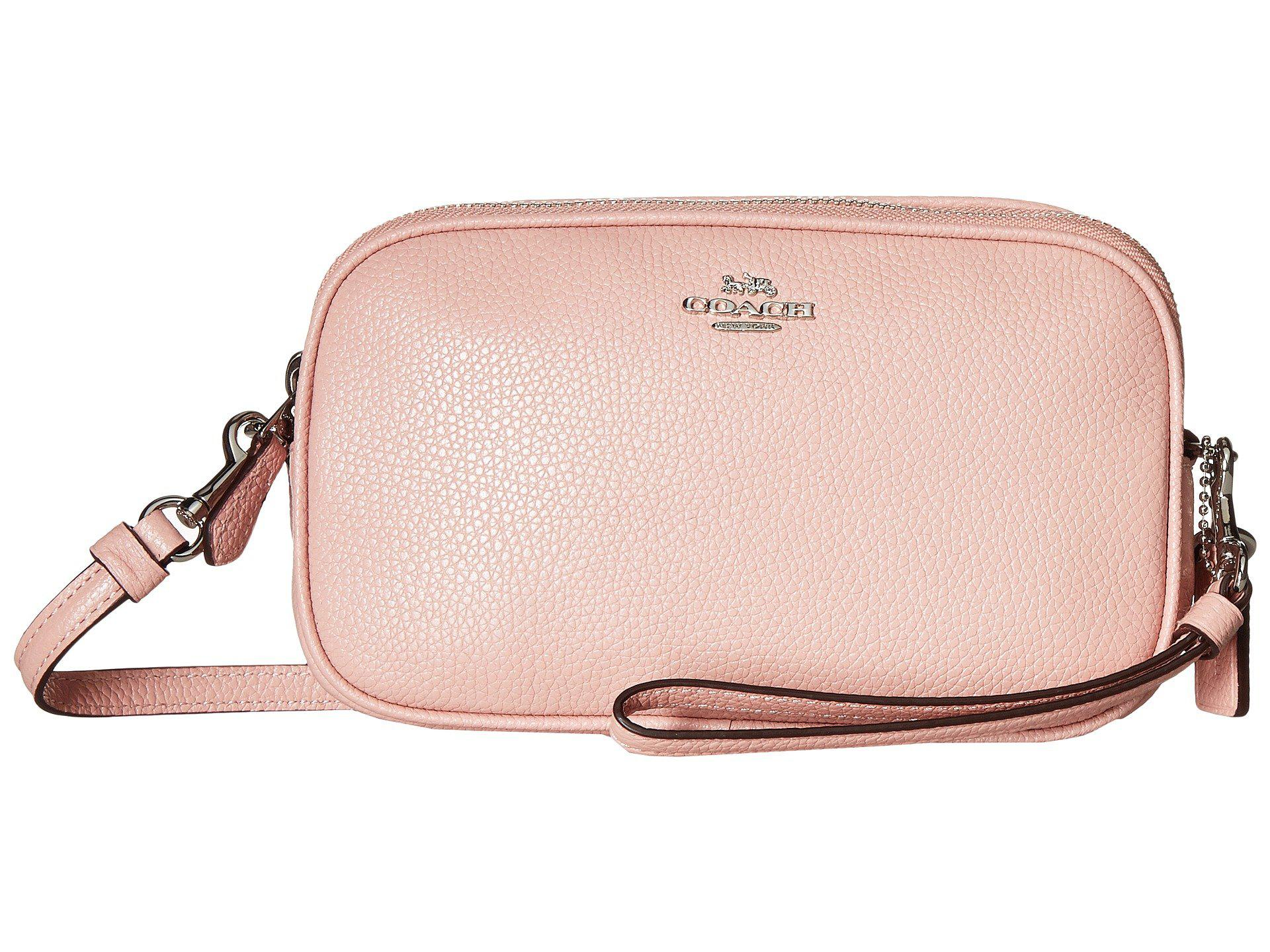 2e0b07b91 ... new zealand lyst coach polished pebble crossbody clutch sv peony clutch  637bb 216f6