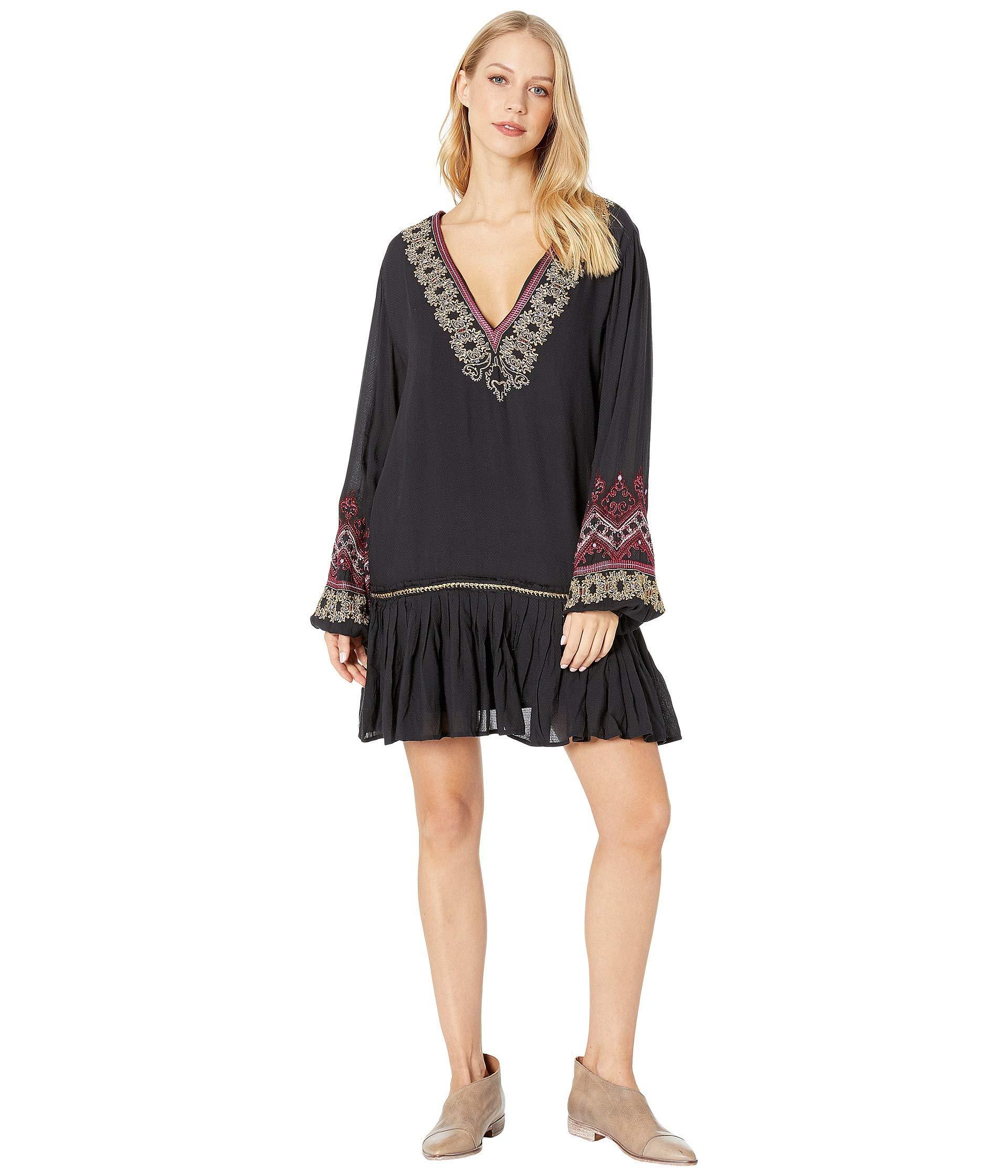 bd4bca6f86f9 Lyst - Free People Wild One Embellished Mini Dress (black) Women s ...