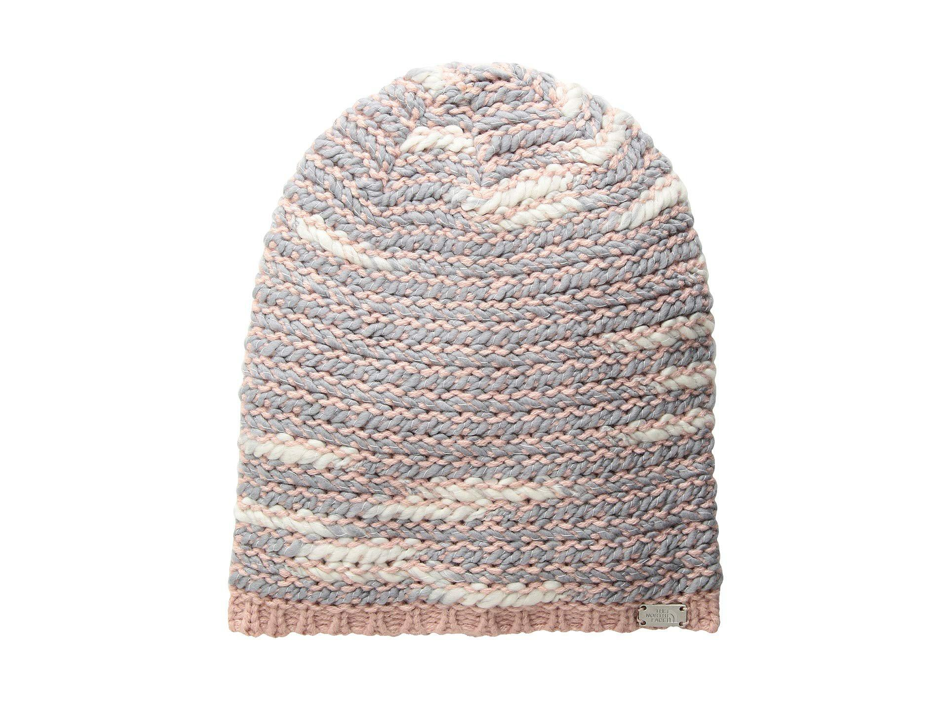 e1777ebec30a2 Lyst - The North Face Kaylinda Beanie (misty Rose/mid Grey) Beanies ...