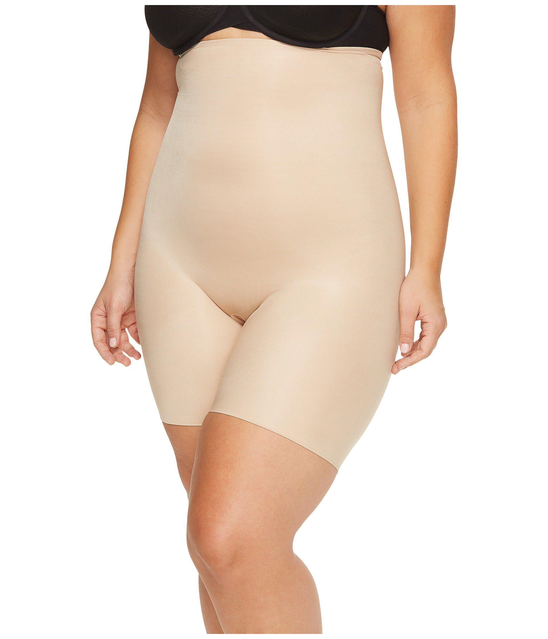 e90a657b56d8b Lyst - Spanx Plus Size Power Conceal-hertm High-waisted Mid-thigh ...