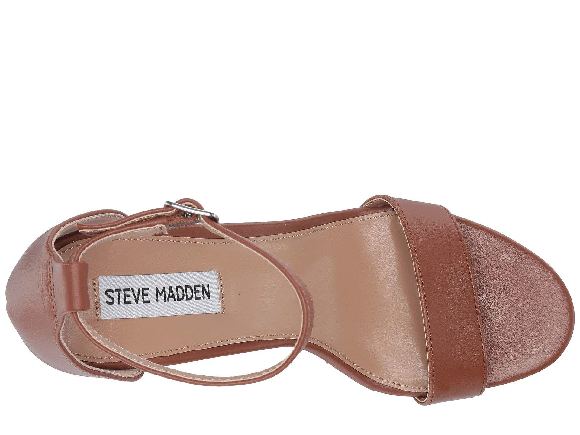 f9c0ca42545 Steve Madden - Brown Mary Wedge Sandal (natural Leather) Women s Sandals -  Lyst. View fullscreen