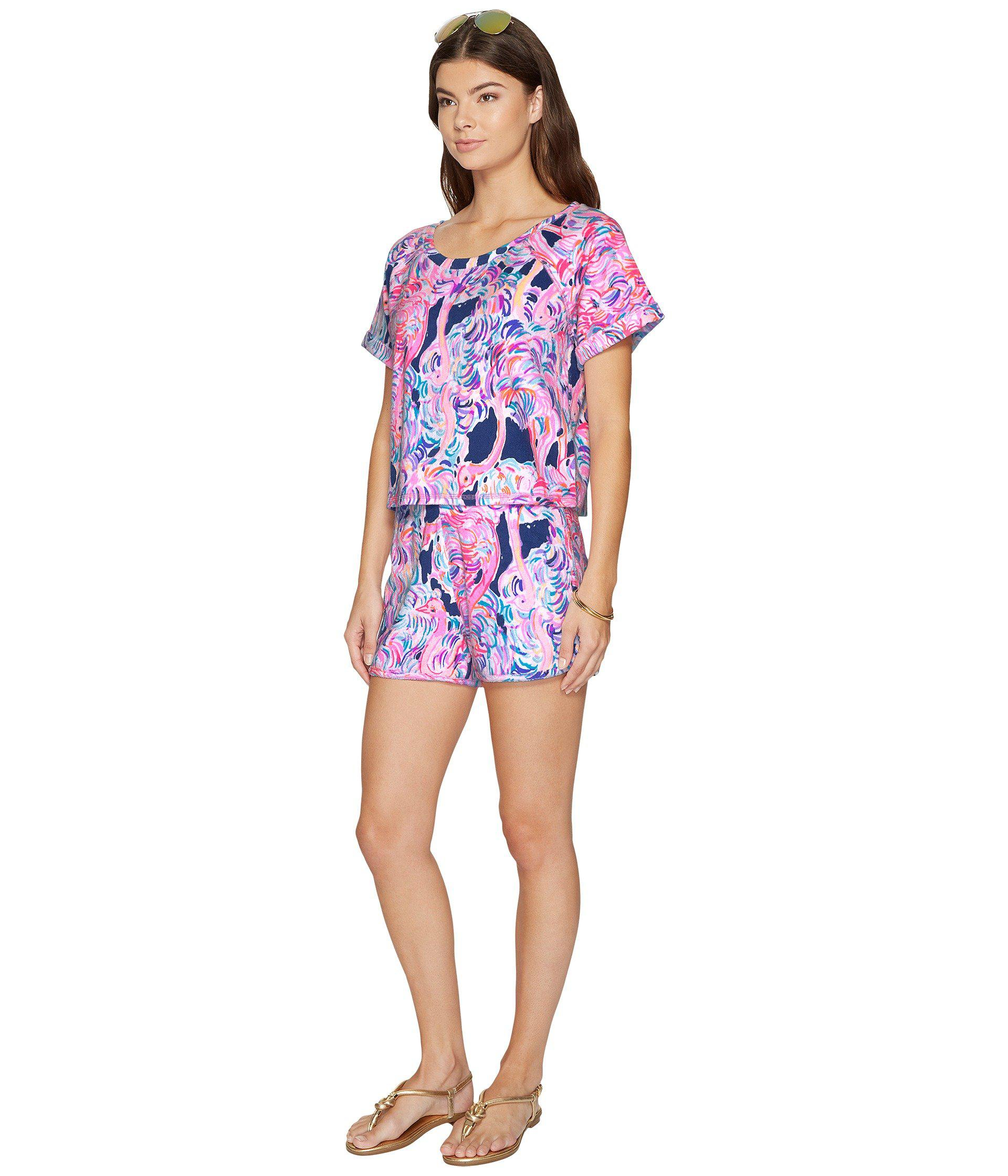 3147dd21a73083 Lilly Pulitzer Dossie Set (pelican Pink Head In The Sand) Women's ...
