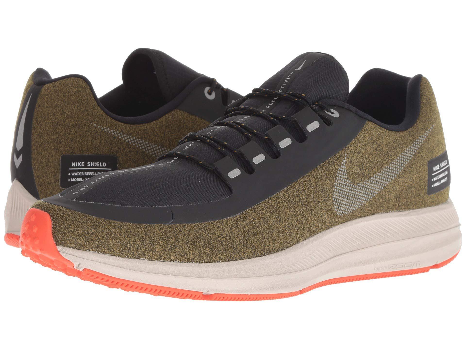 16ae288aac66 Lyst - Nike Air Zoom Winflo 5 Run Shield (olive Flak metallic Silver ...