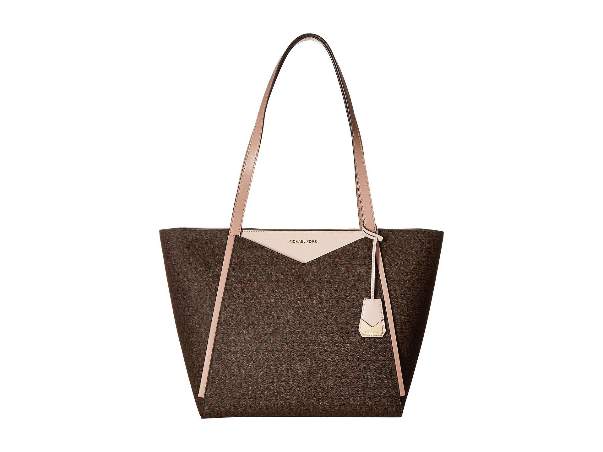 2e2c002227f3ee Lyst - MICHAEL Michael Kors Whitney Large Top Zip Tote (brown/soft ...