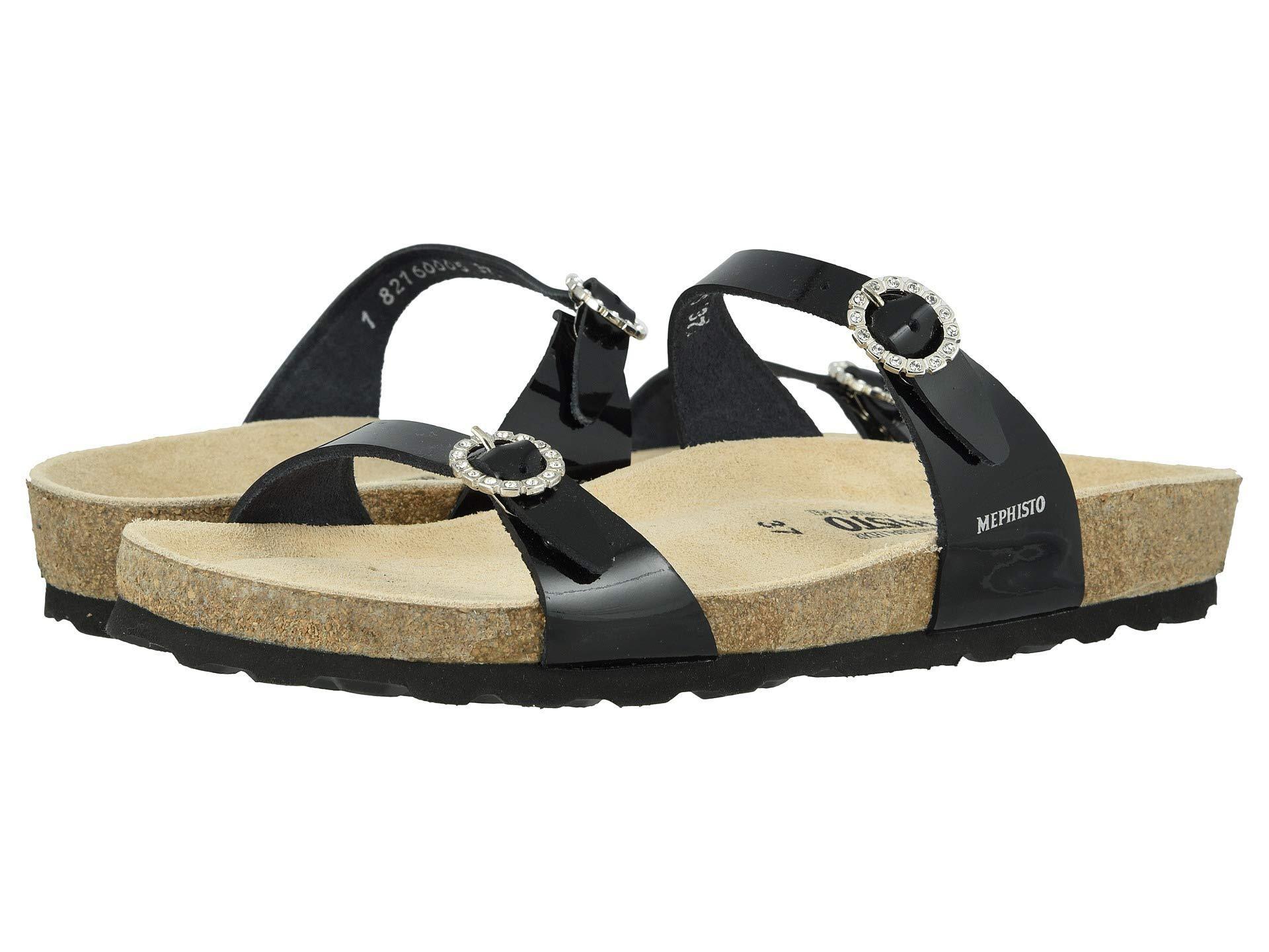 0e4e3c44d6 Mephisto Norie (silver Fiori) Women's Sandals in Black - Lyst