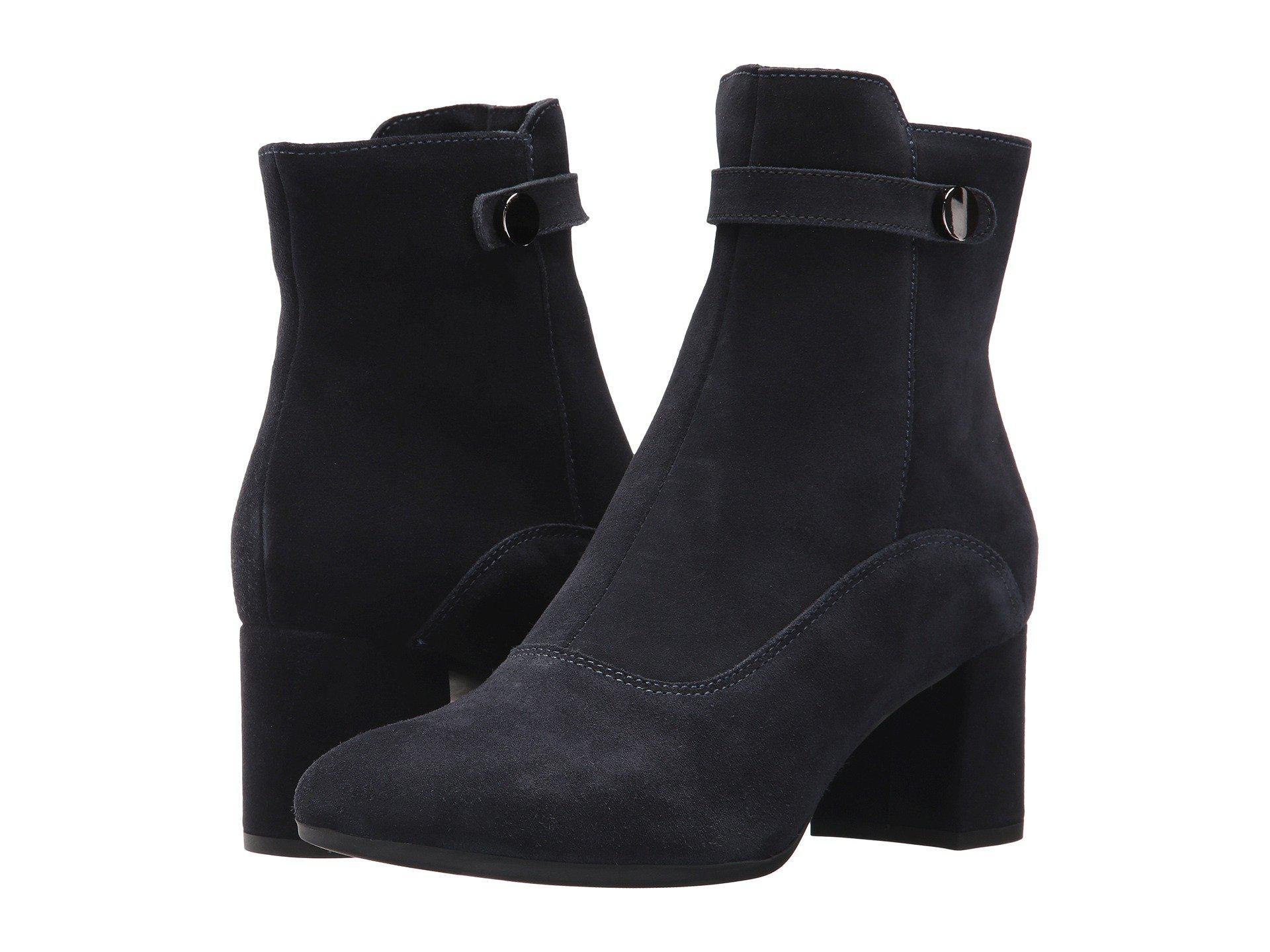 La Canadienne Jessa Black Suede Women S Boots In Blue Lyst