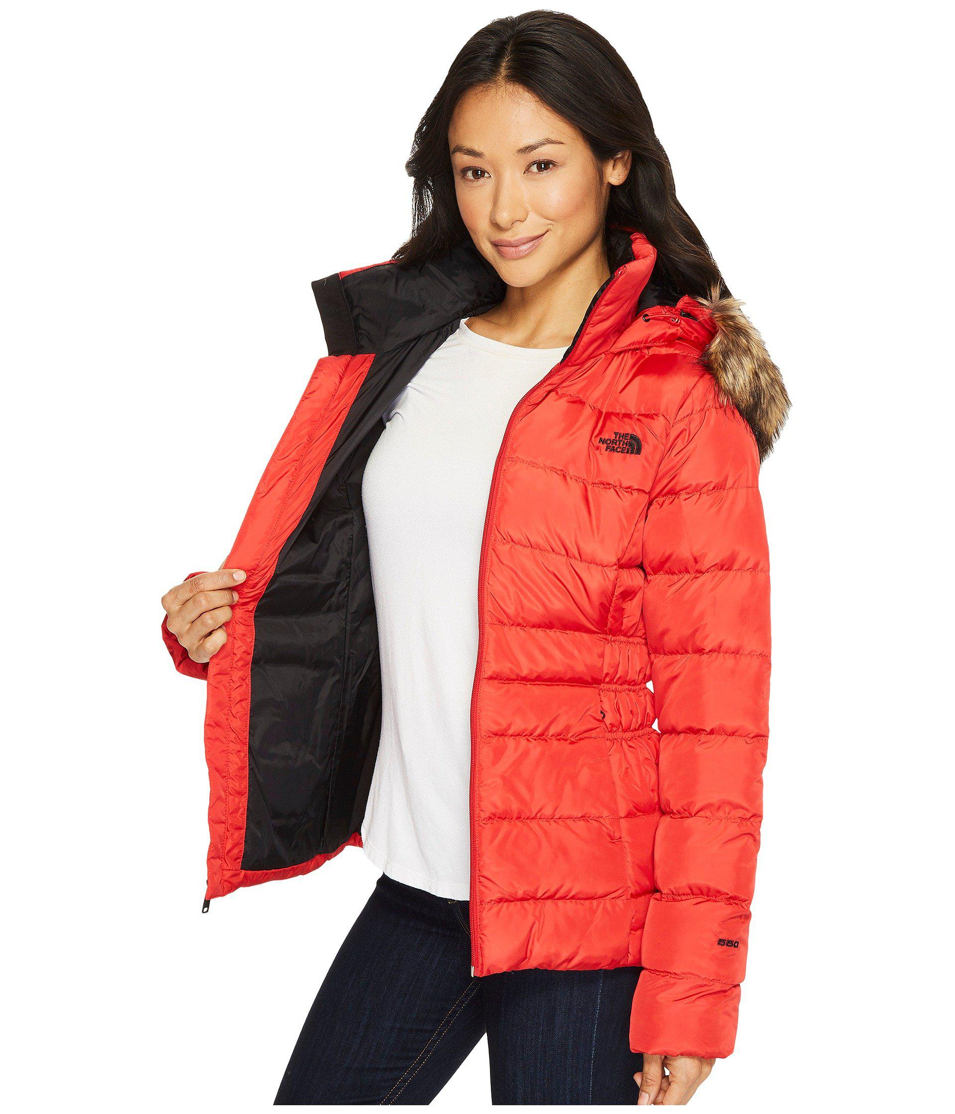 a537e50a4b The North Face - Red Gotham Jacket Ii (metallic Copper) Women s Coat -  Lyst. View fullscreen