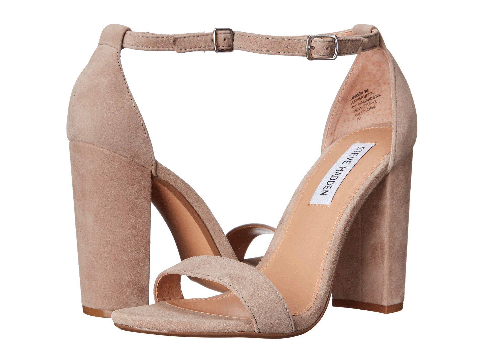 5642e12d0c5 Lyst - Steve Madden Carrson Heeled Sandal (black Suede) High Heels