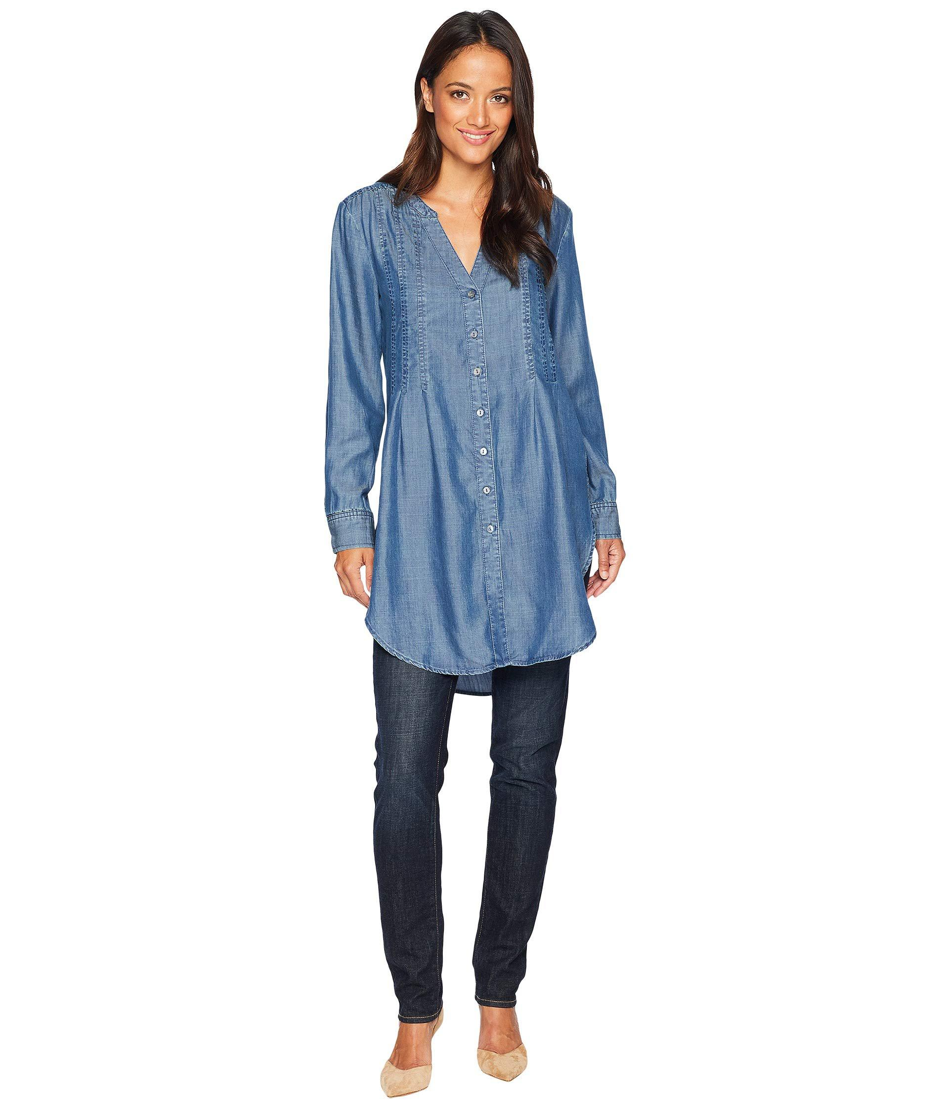 c8cb5f7ebbf Lyst - Liverpool Jeans Company Tunic With Release Pleat (sierra Dark ...