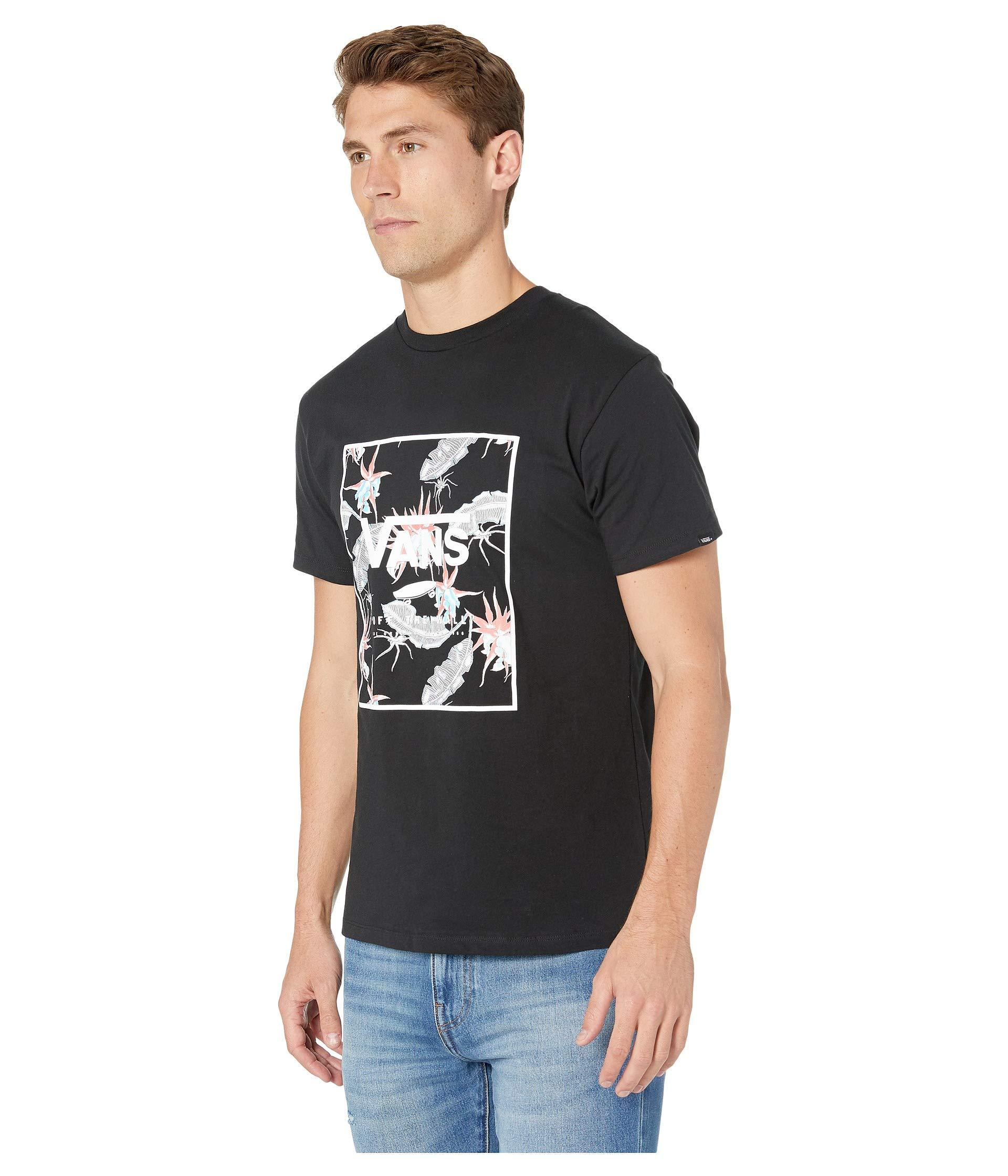 22643c765c06a4 Lyst - Vans Print Box Tee (black black Open Shade Floral) Men s T Shirt in  Black for Men