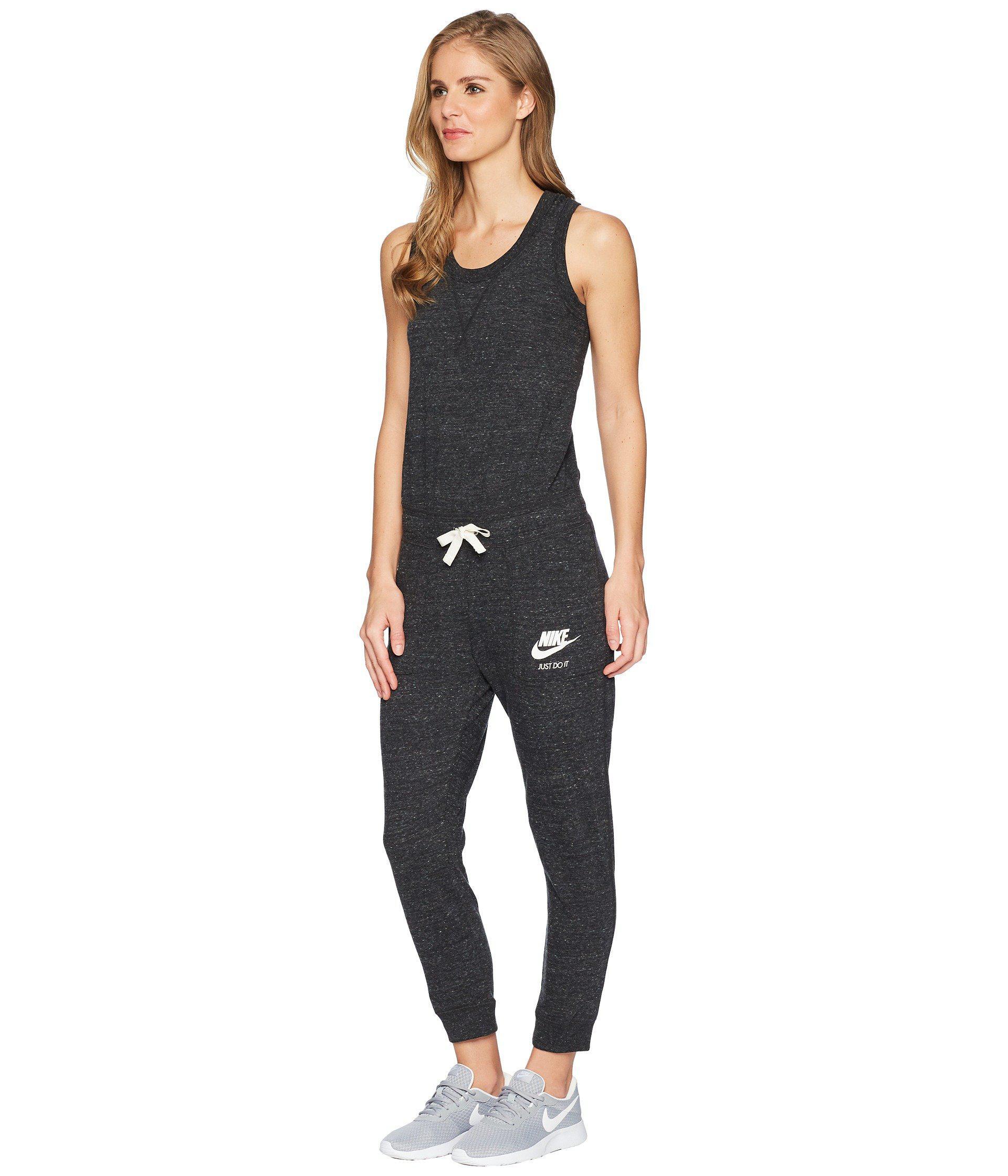 58027d2fd75f Lyst - Nike Sportswear Gym Vintage Romper (black sail) Women s Jumpsuit    Rompers One Piece in Black